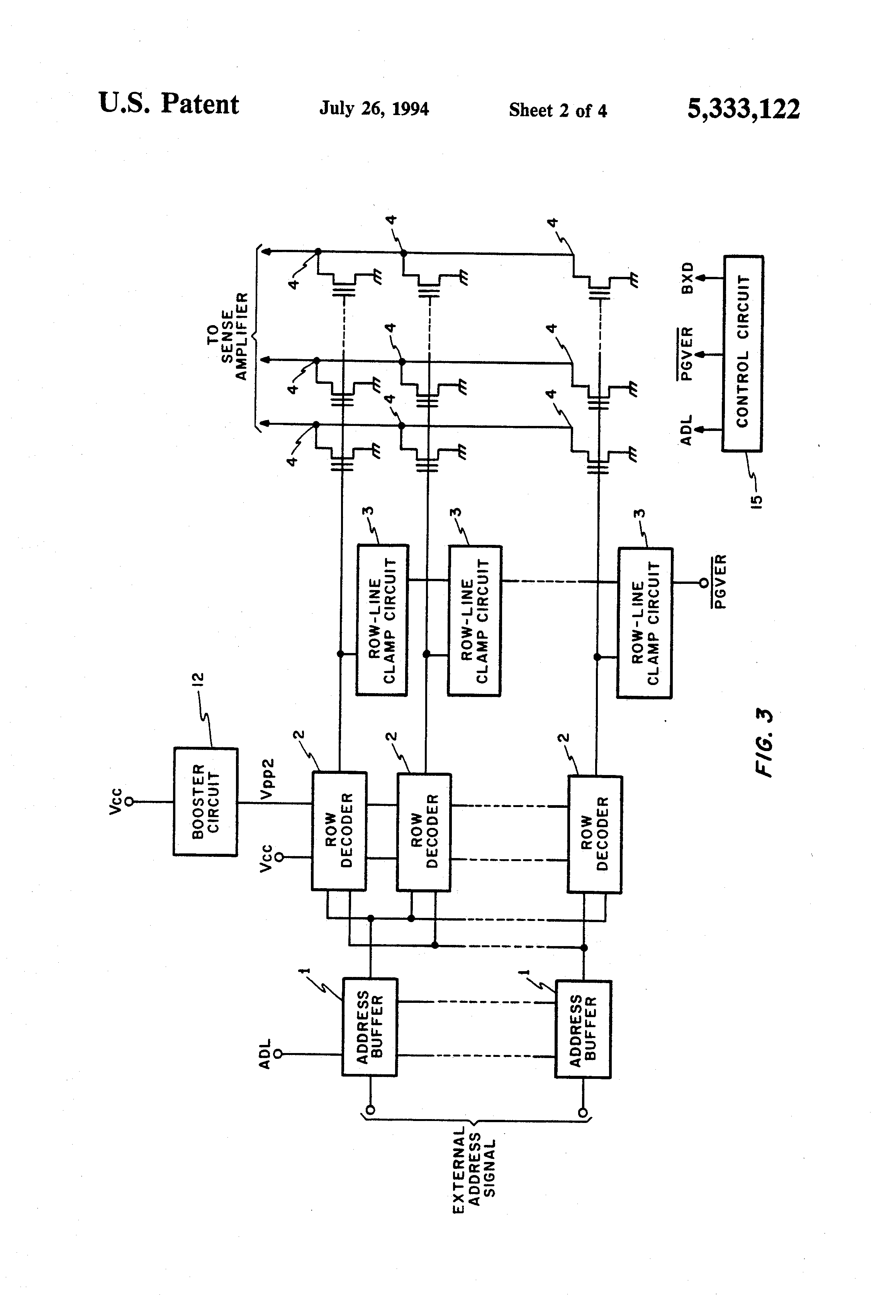 Patent Us5333122 Electrically Erasable And Programmable Non Readonly Memory Integrated Circuits These Drawing
