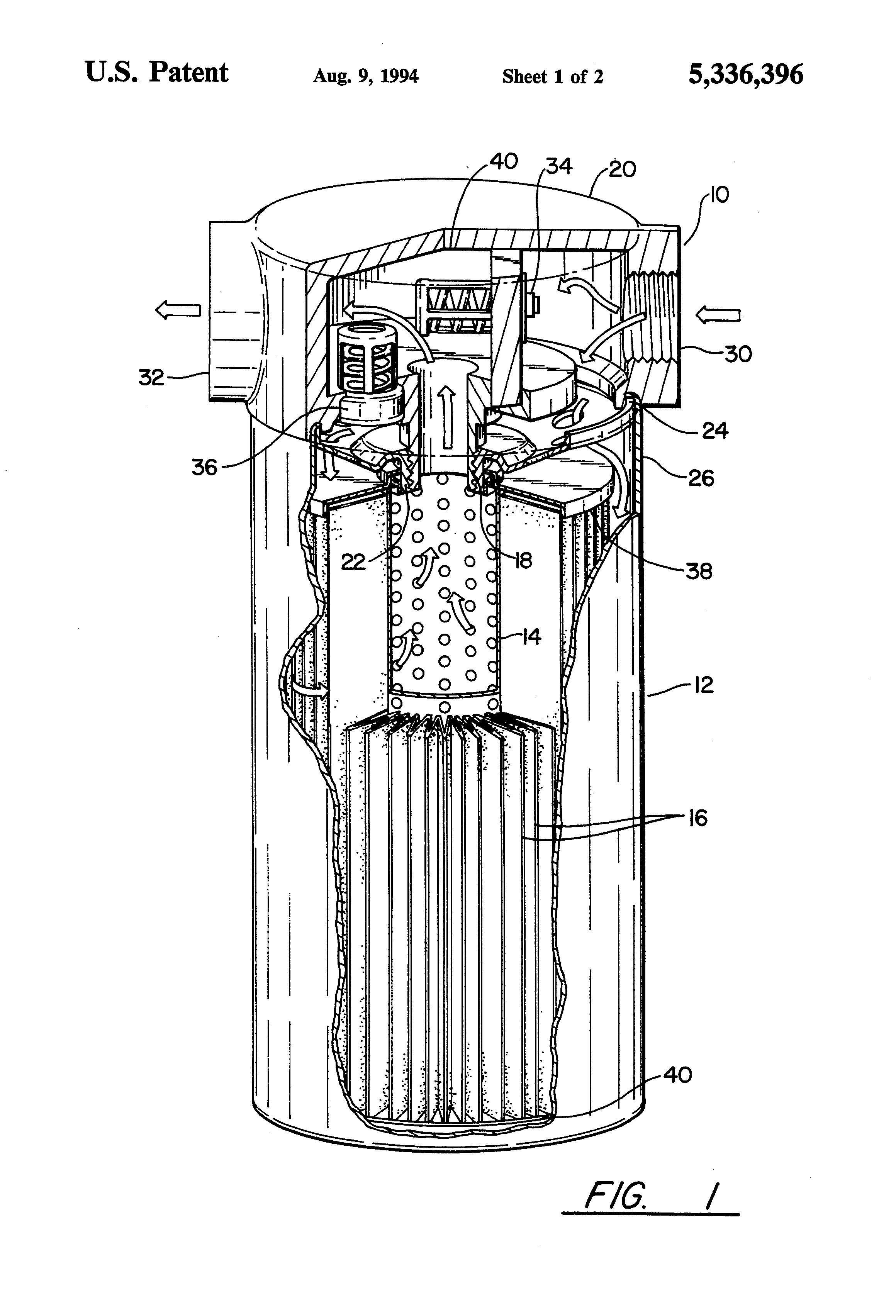 patent us5336396 - waste oil management system