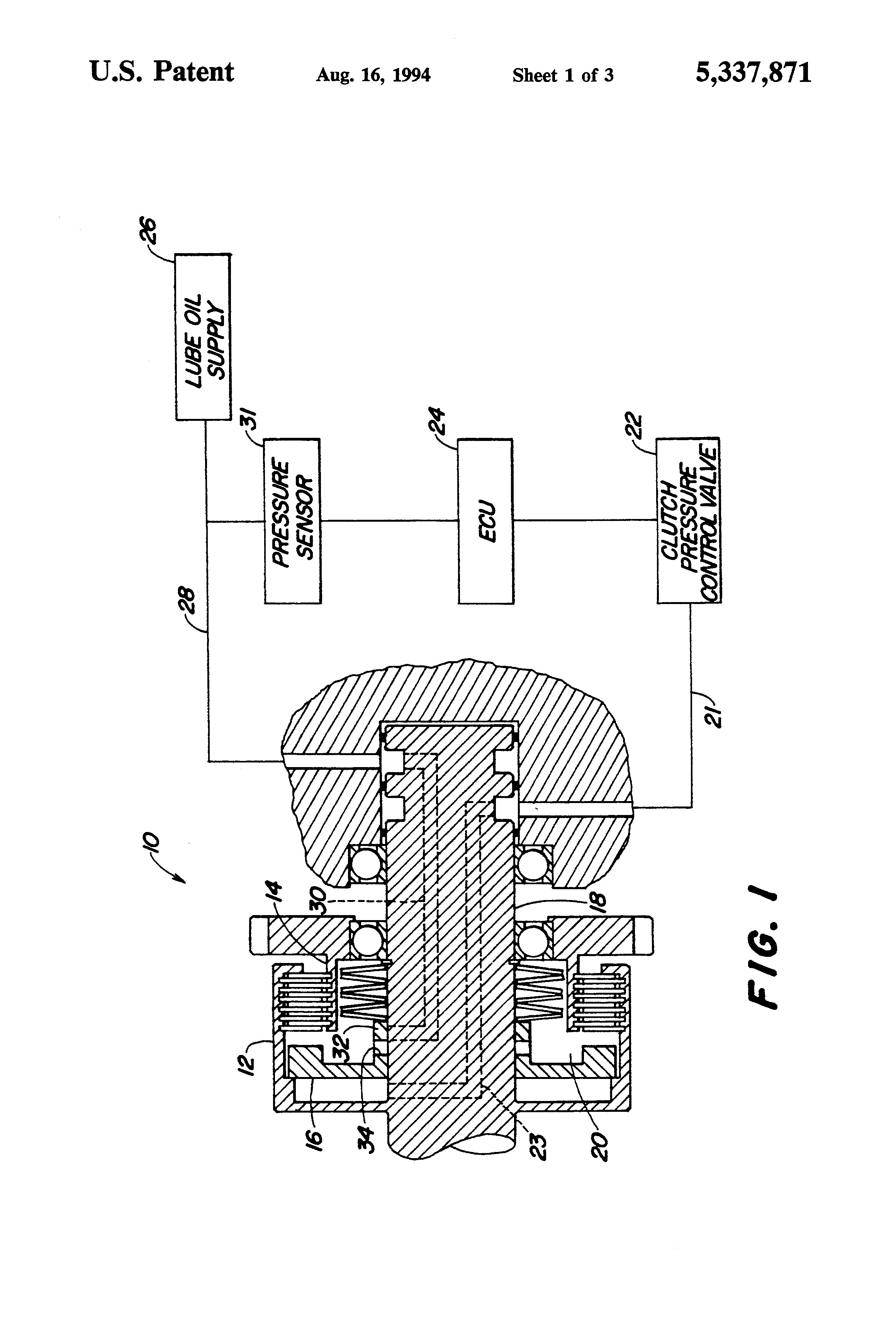 Patent US5337871 - Calibration method for transmission control