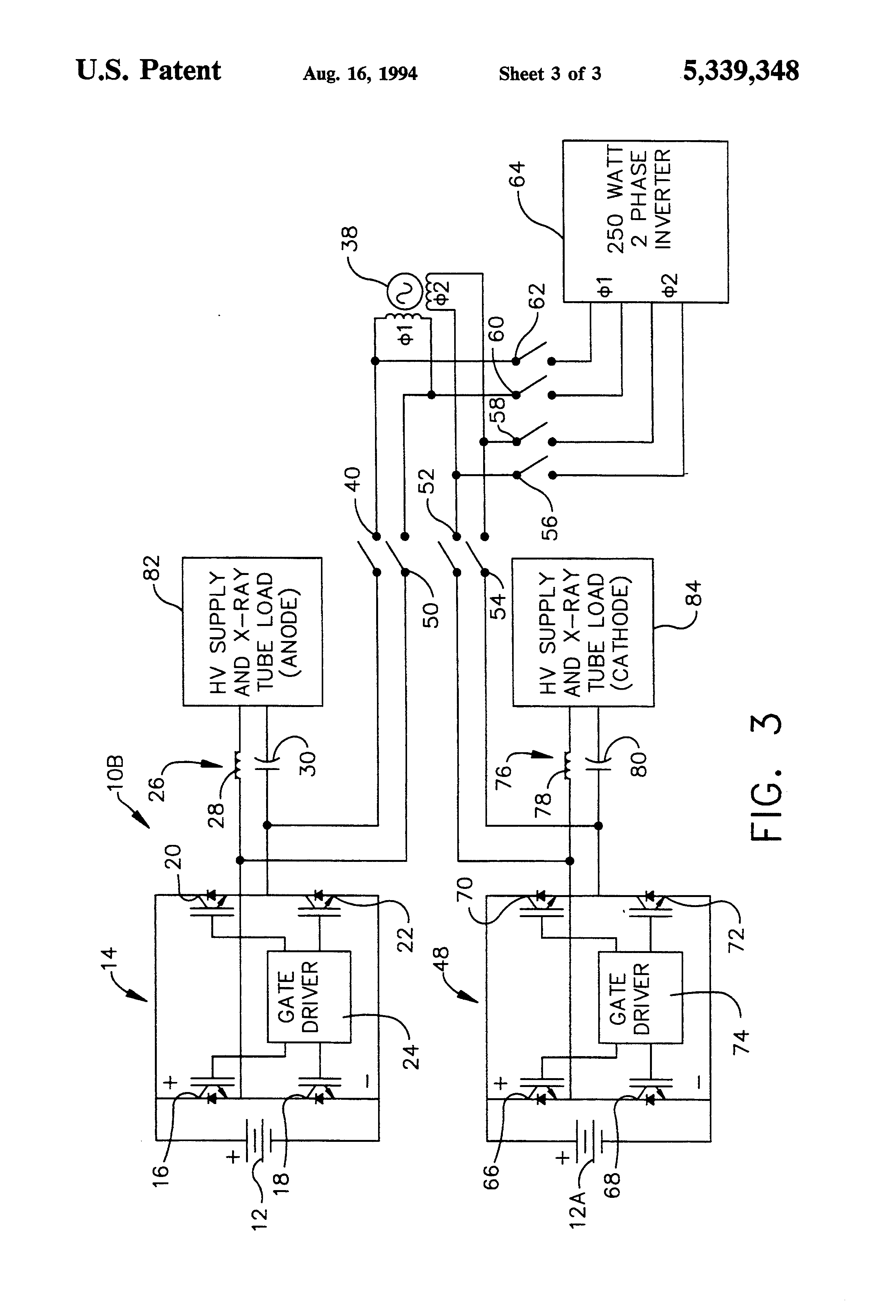 Patent Us5339348 X Ray Tube Rotor Controller Using The