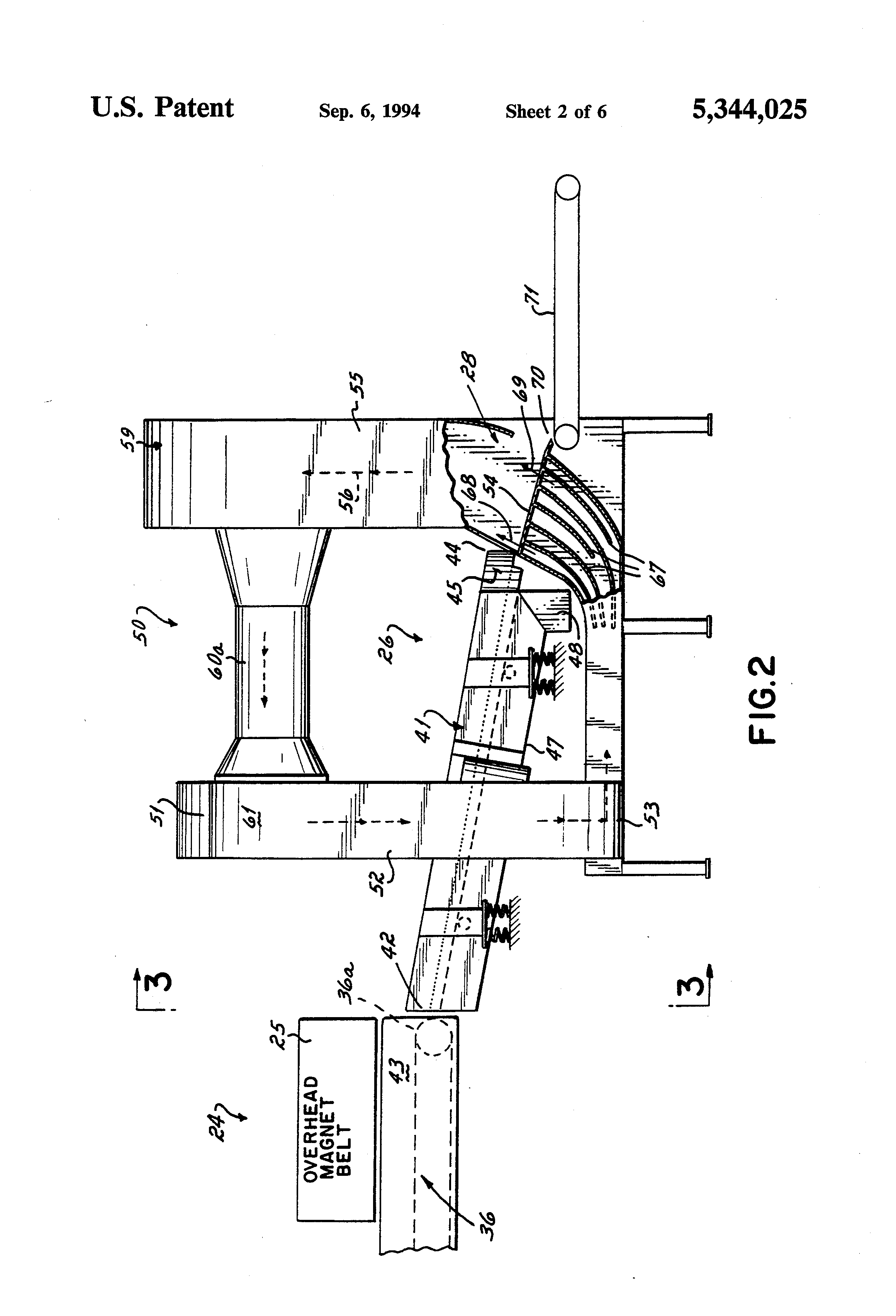 Patent Us5344025 Commingled Waste Separation Apparatus And Methods Stihl Chainsaw Wiring Diagram Free Picture Schematic Drawing