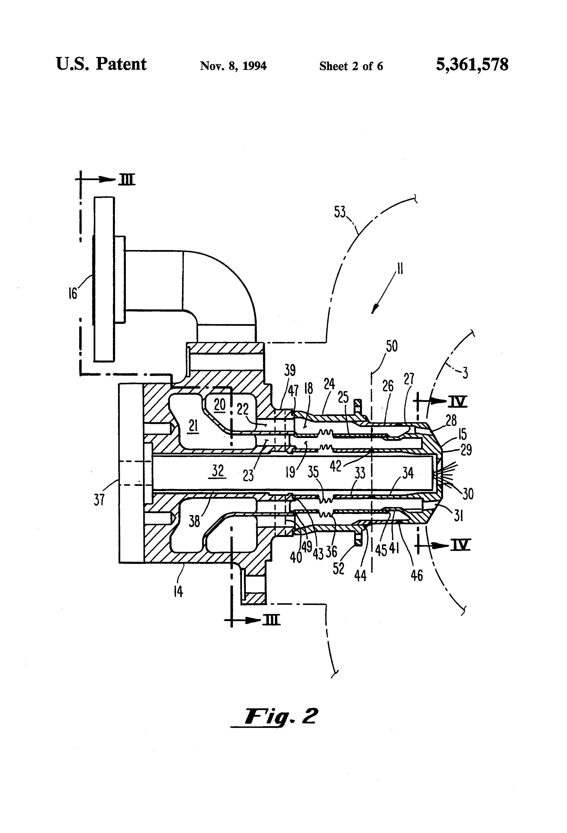 Patent US Gas turbine dual fuel nozzle assembly with