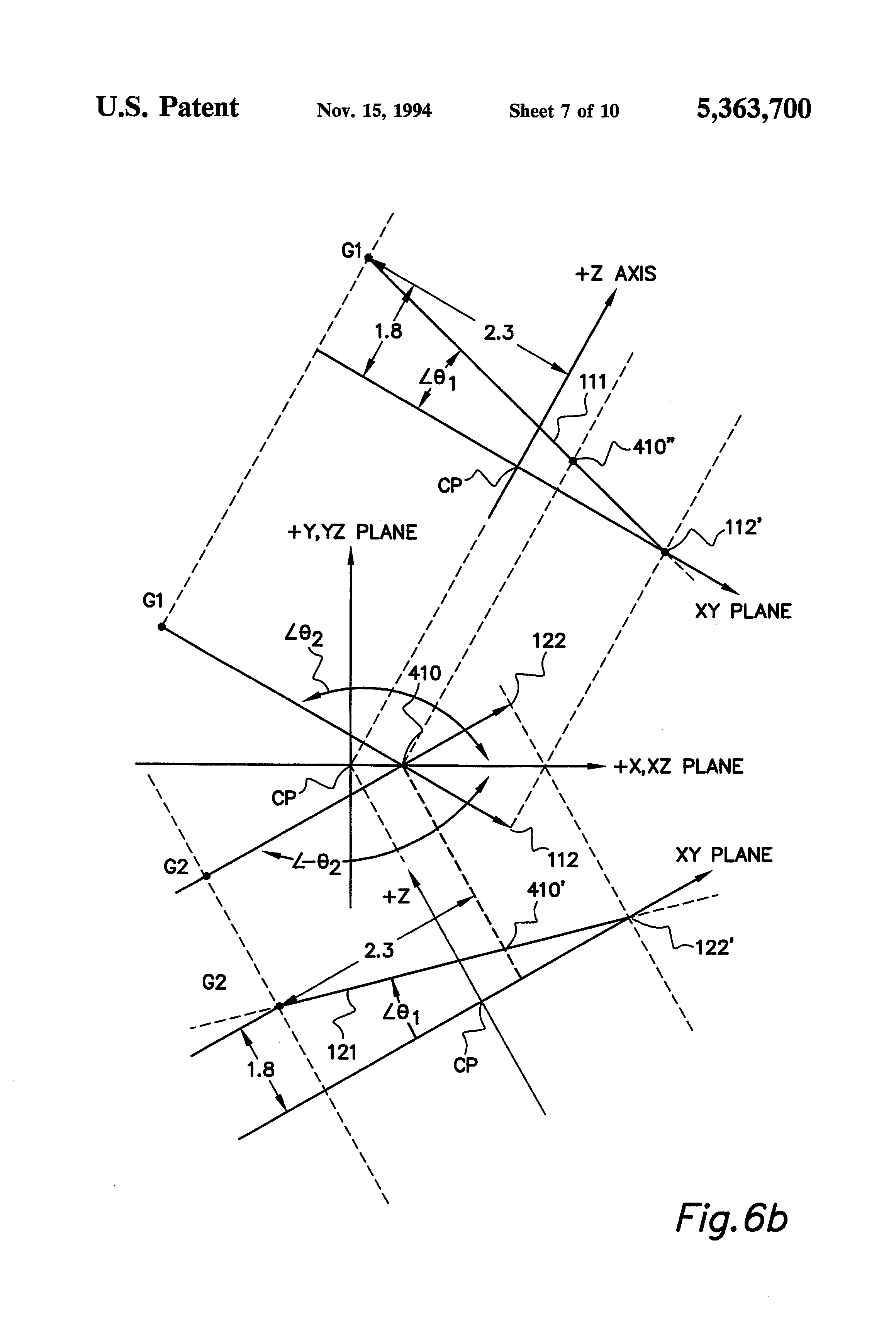 patent us5363700 - skewed axis inertial sensor assembly