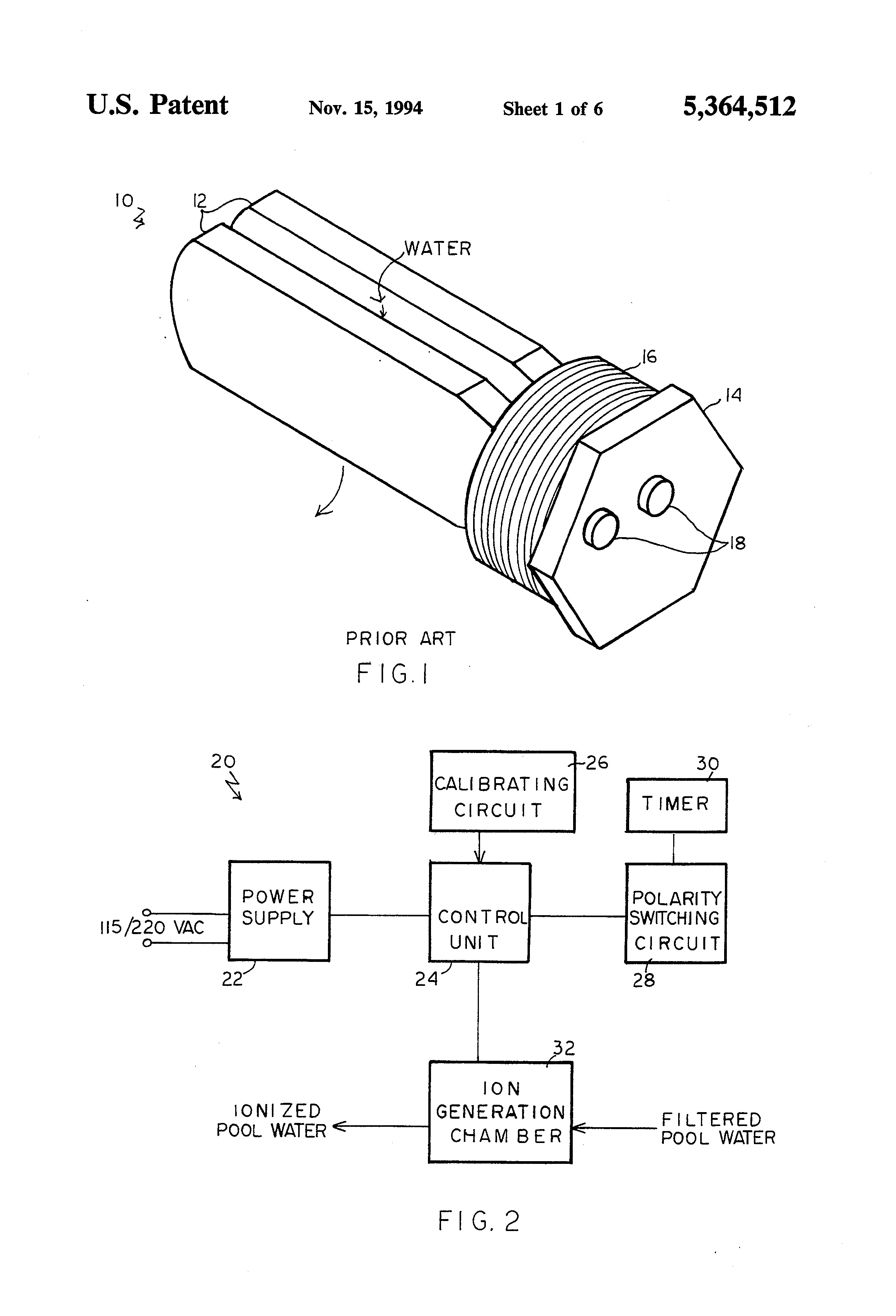 Patent US5364512 - Electrochemical ionization apparatus ... on