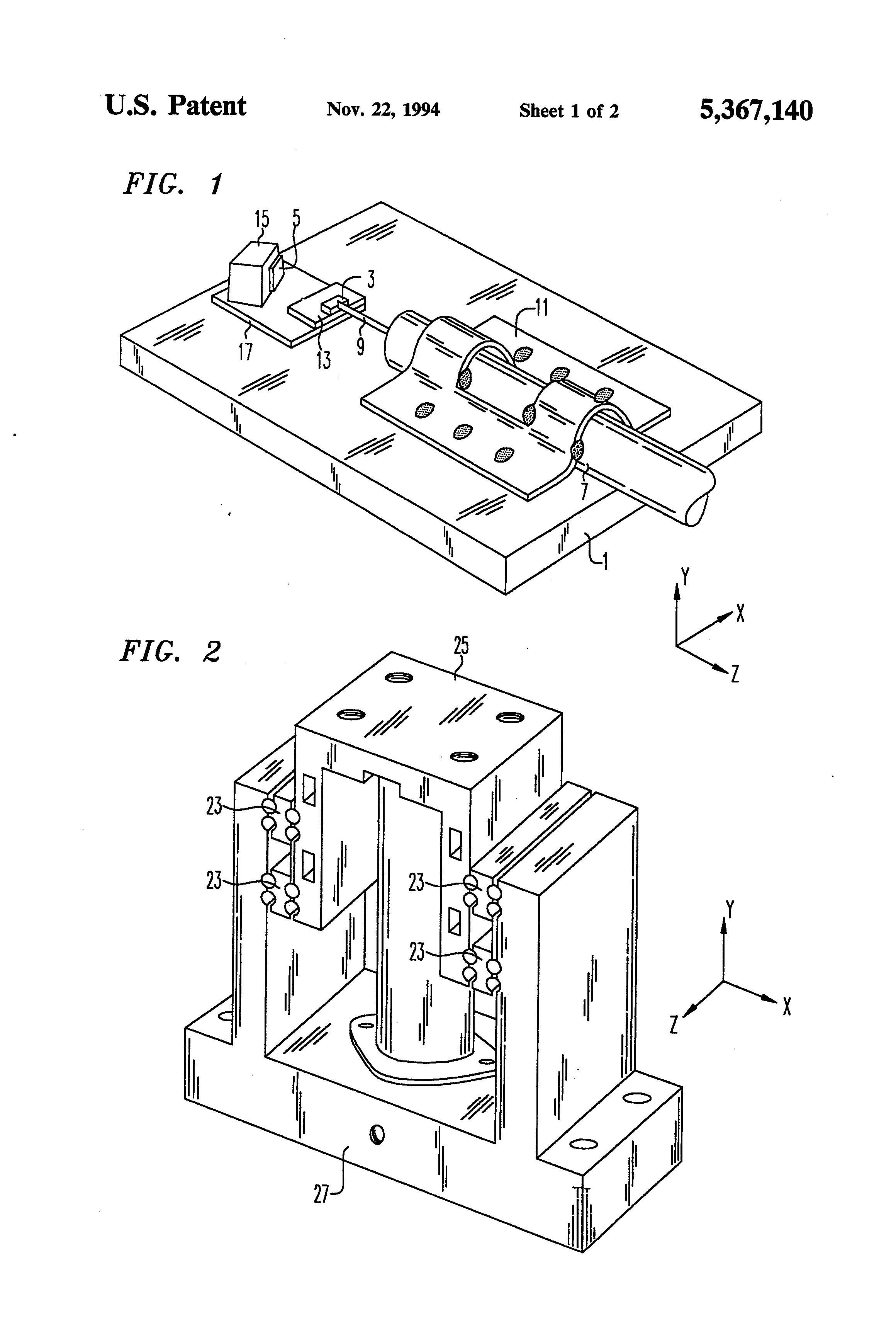 Patent Us5367140 Method For Laser Welding Of Optical Packages Diagram Drawing