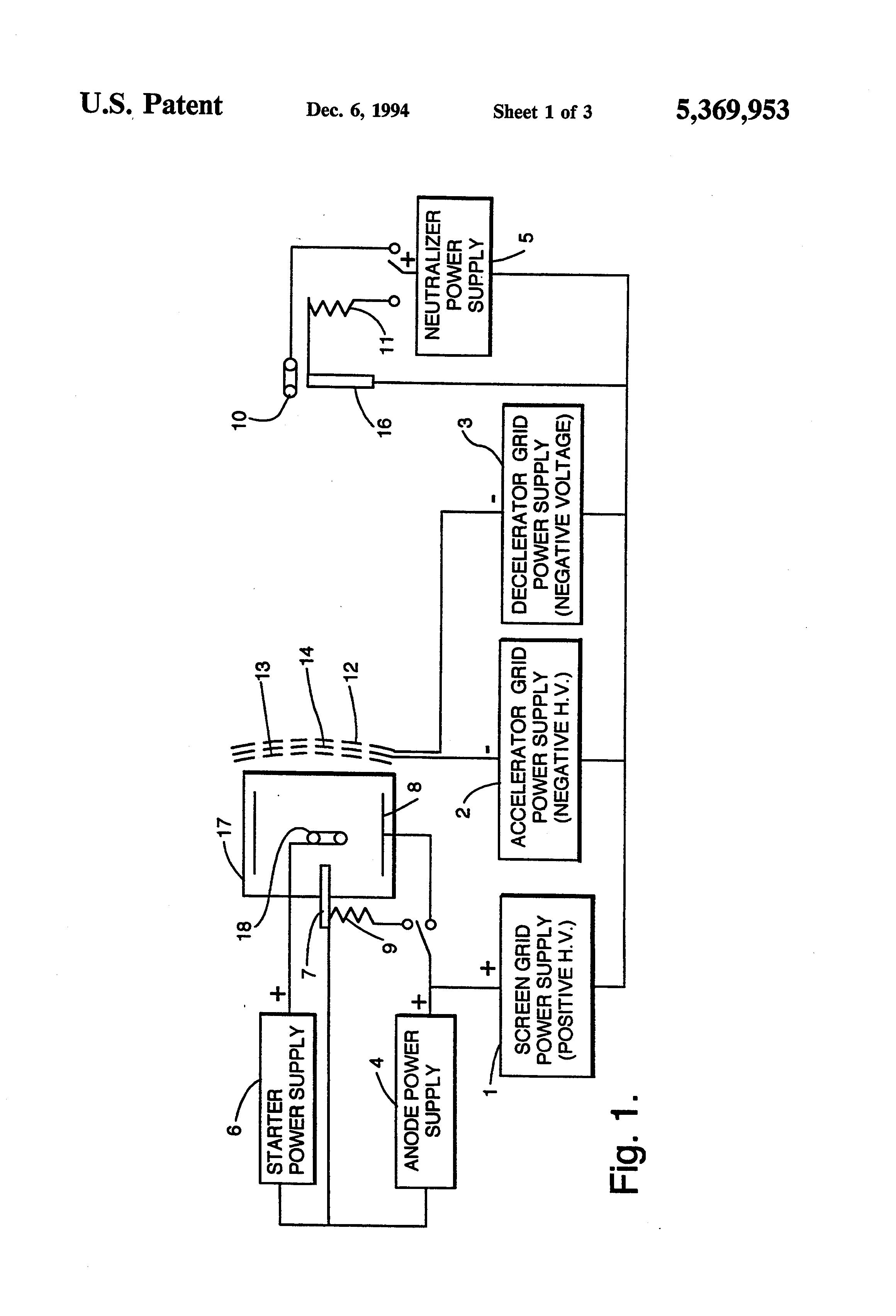براءة الاختراع US5369953 - Three-grid accelerator system for
