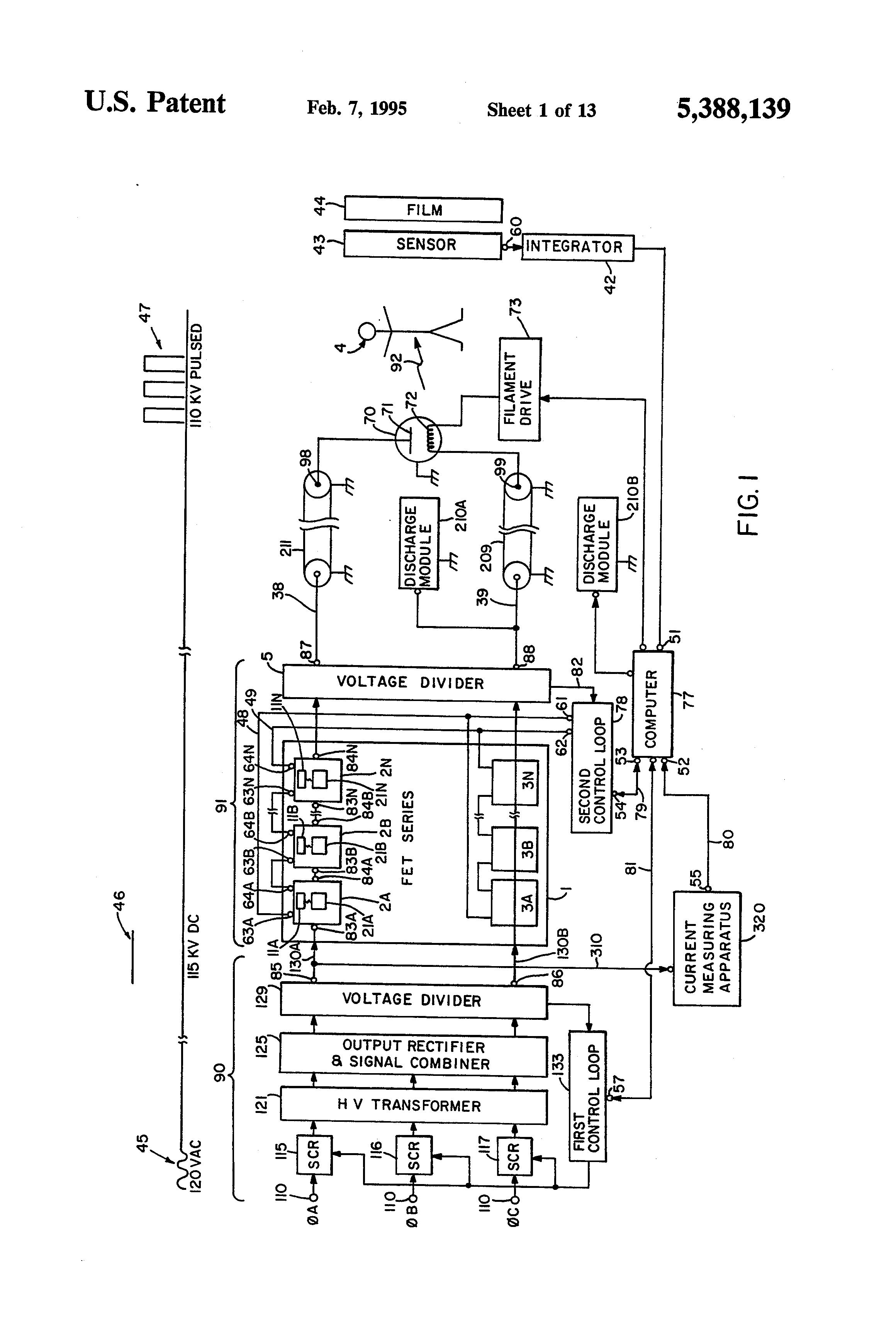 Patent Us5388139 High Voltage Power Supply And Regulator Circuit Zenerdiodevoltageregulatorcircuitdesign Clinic Drawing