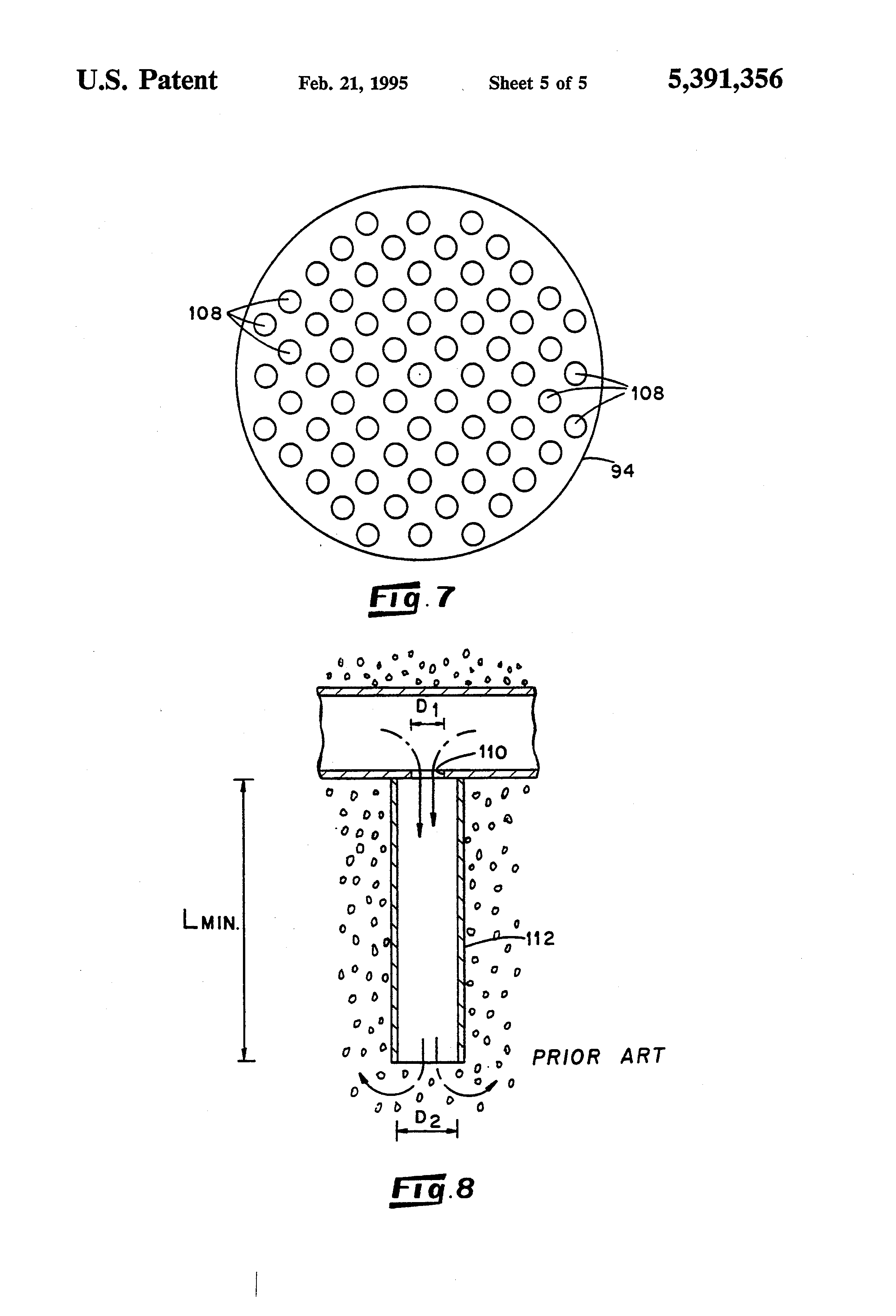 patent us5391356 - flow distributor for a fluidized bed reactor