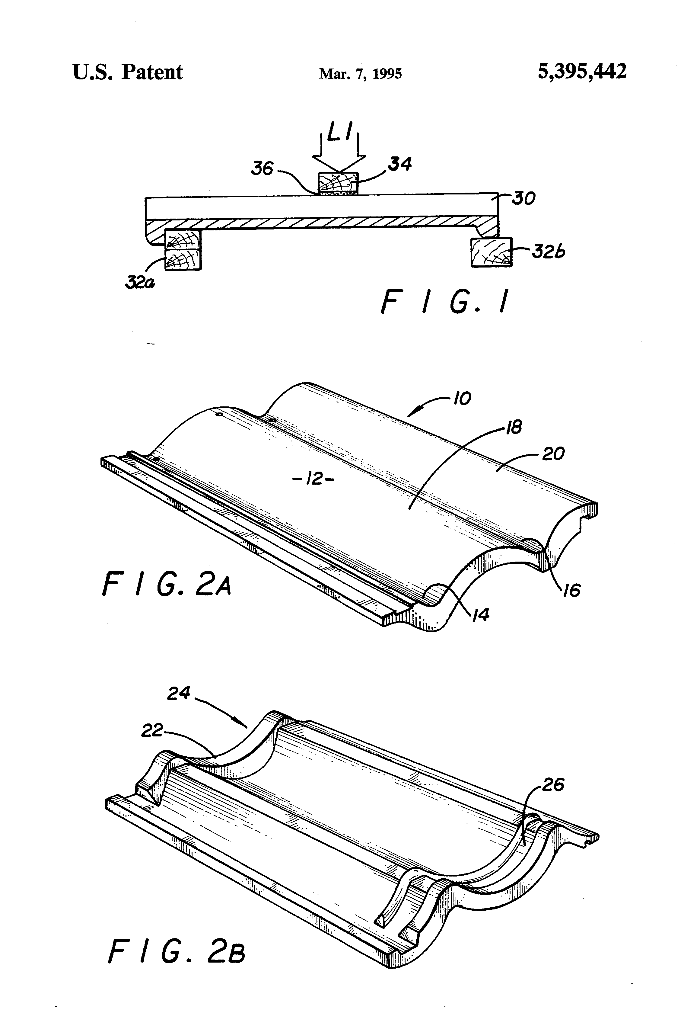 Patent Us5395442 Lightweight Concrete Roof Tiles