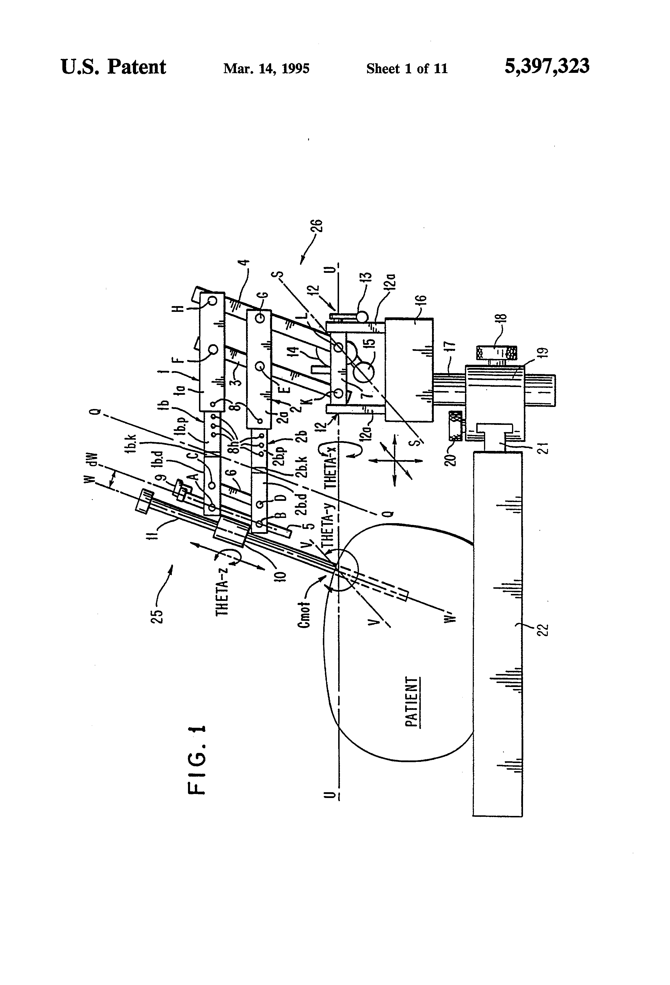 Patent Us5397323 Remote Center Of Motion Robot For Surgery 1999 F350 Fuse Panel Diagram Rcm Drawing