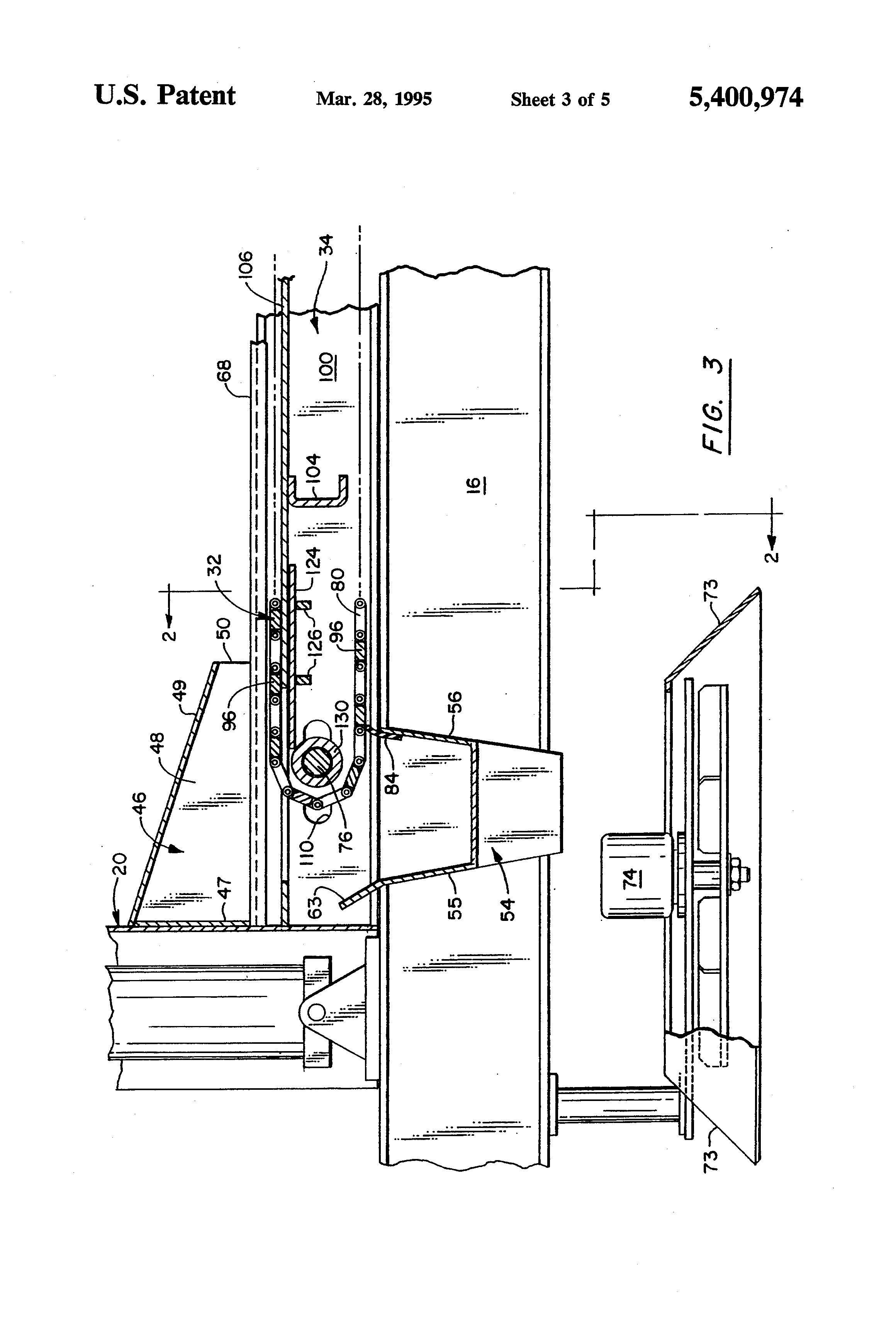 patent us5400974 - dump truck with conveyor dispensing system