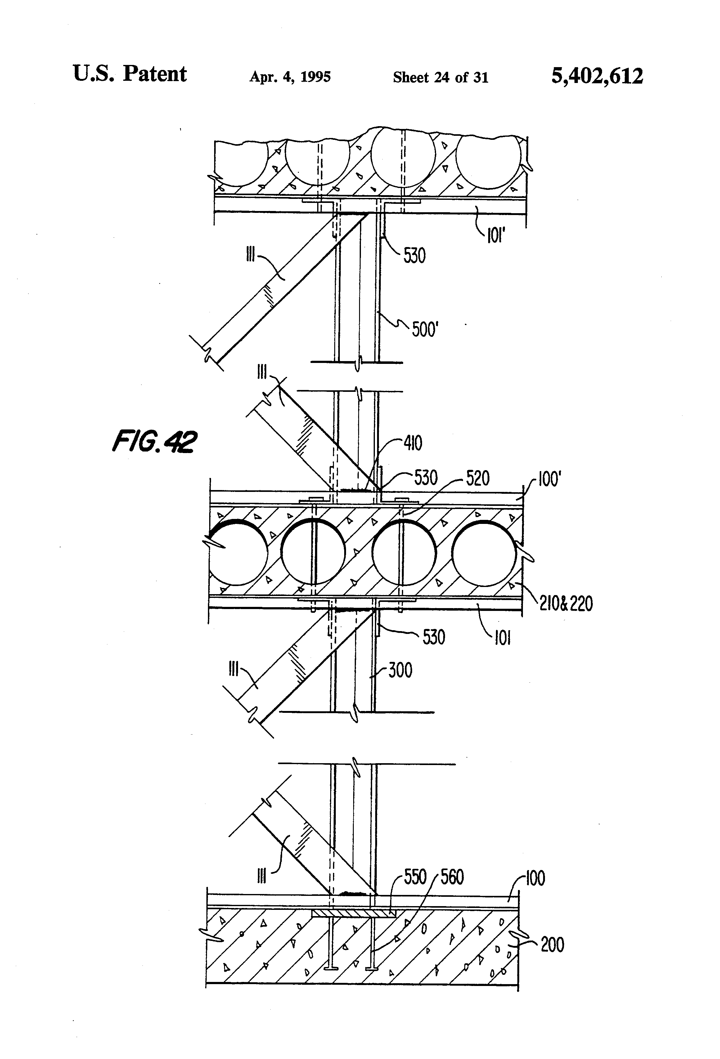 Patent Us5402612 Structural System For Supporting A