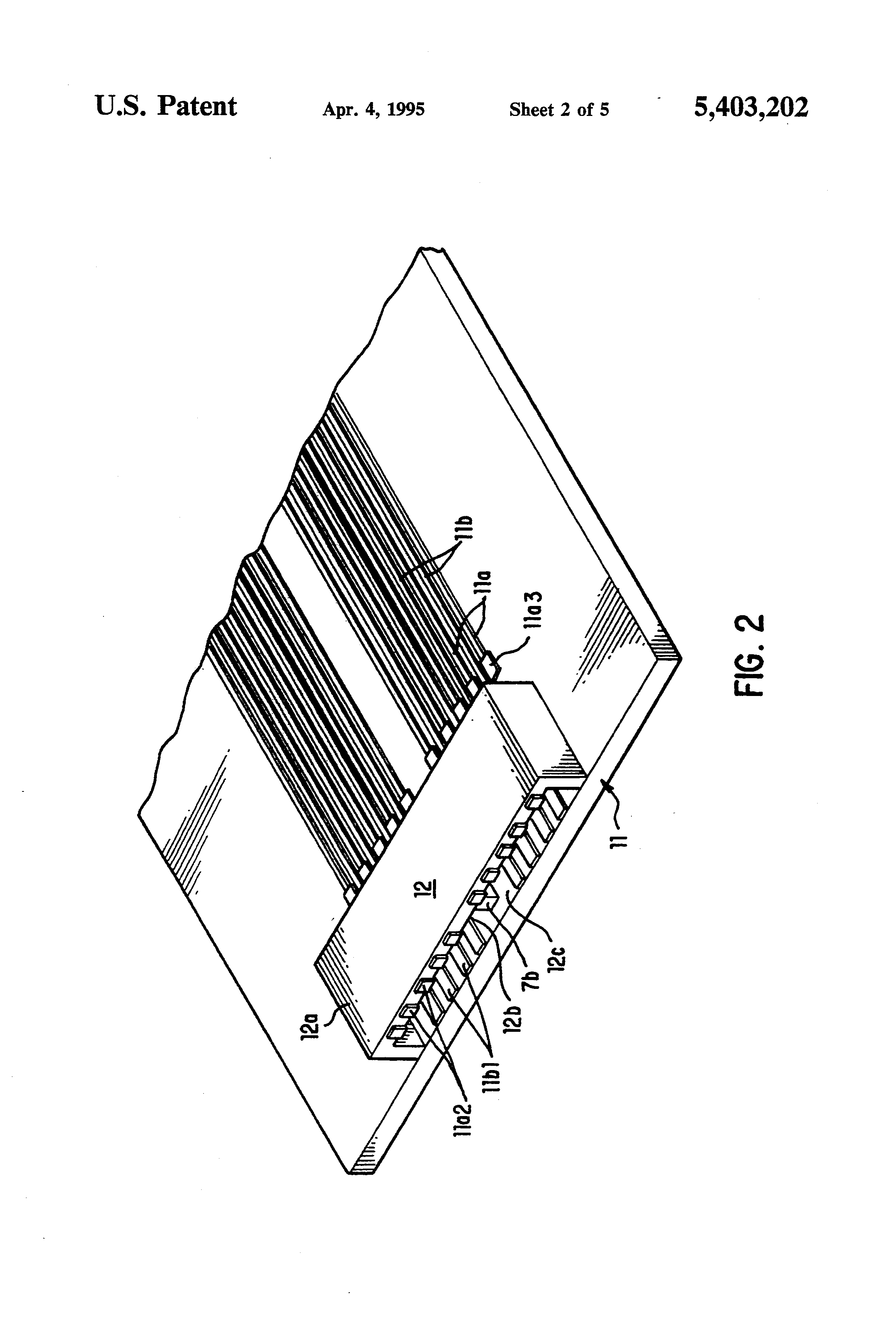 patent us5403202 - low insertion force  low profile flex connector