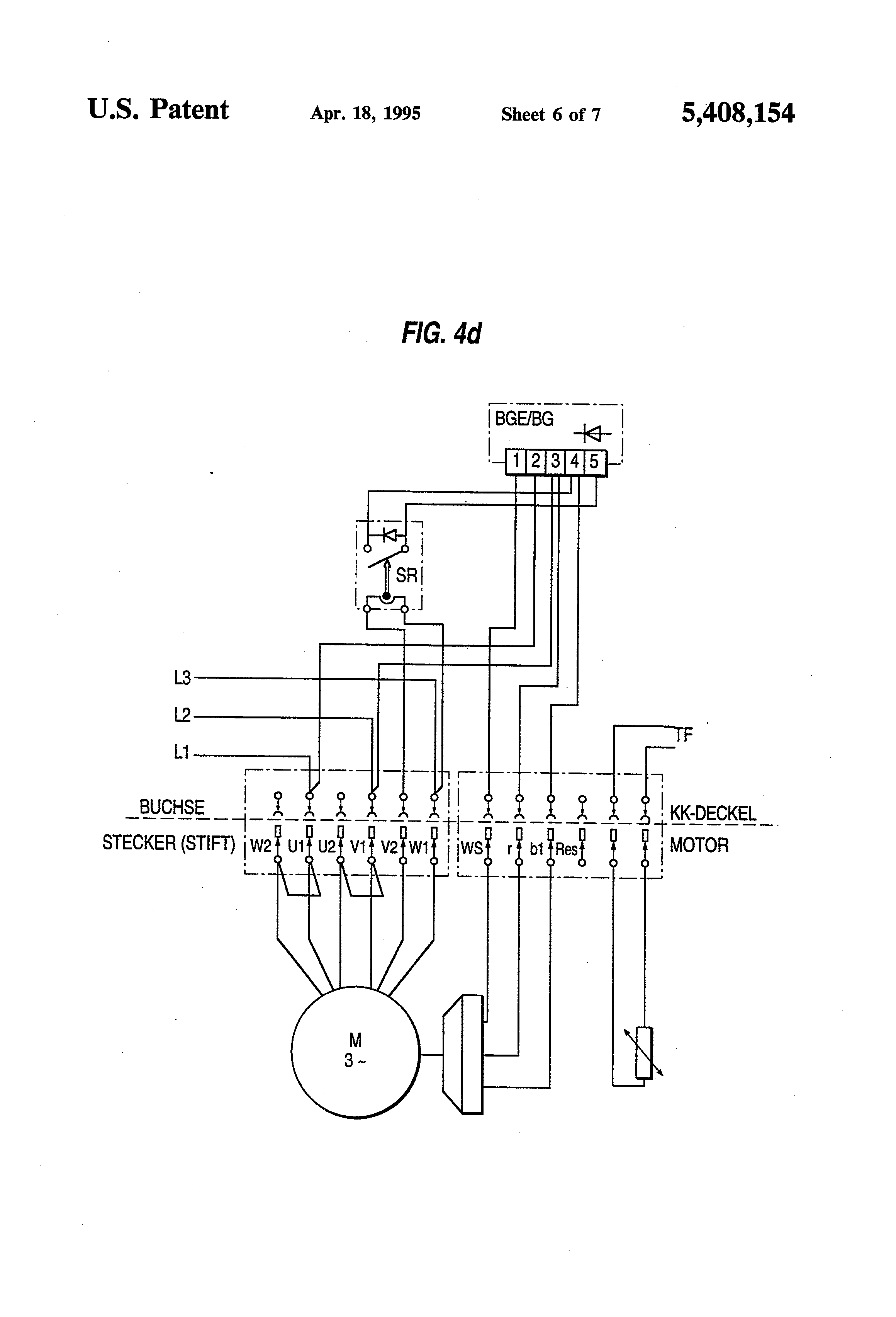Patent Us5408154 - Motor Connection Block  Particularly For Electric Motors