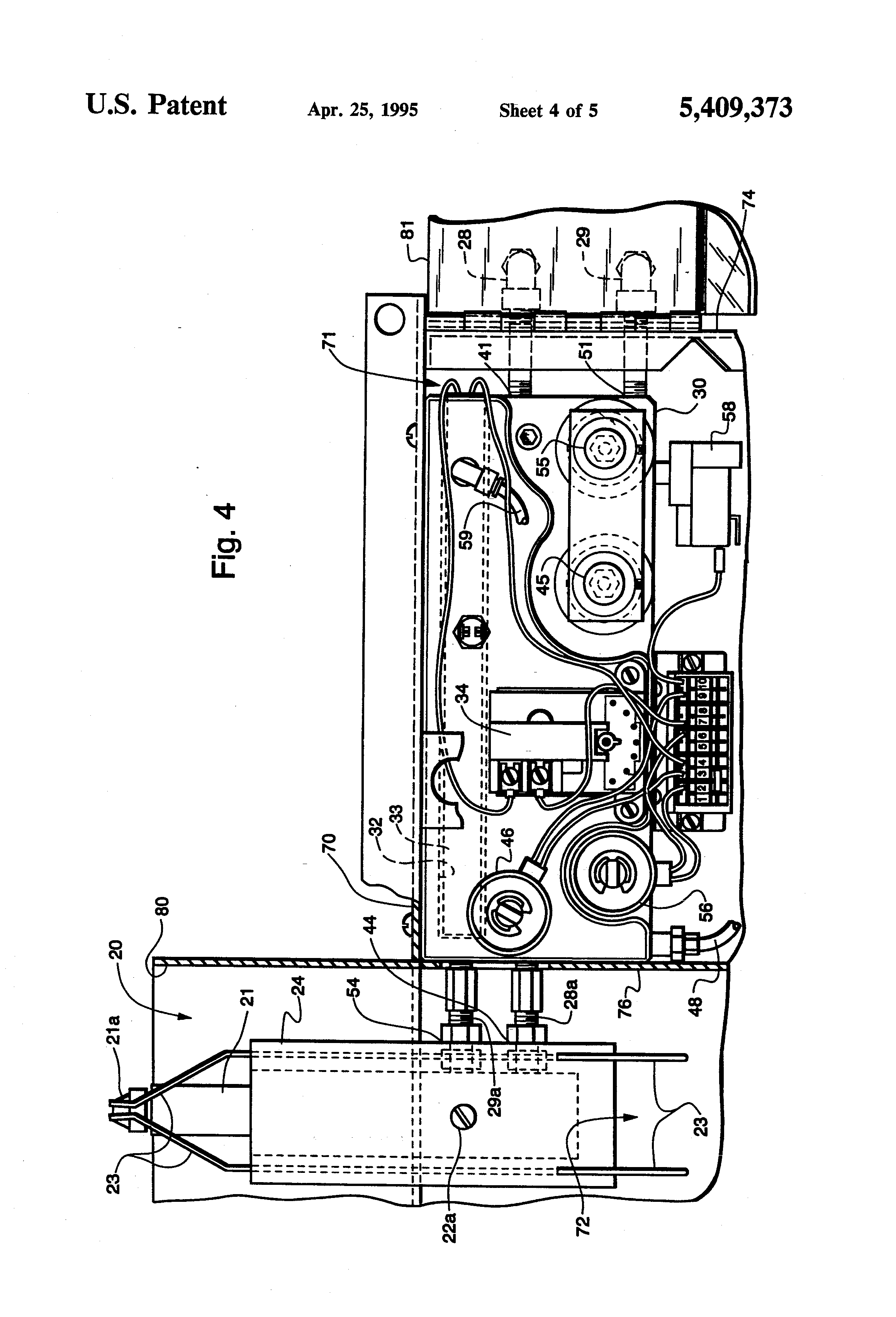 patent us5409373 - burner housing for multi oil furnaces