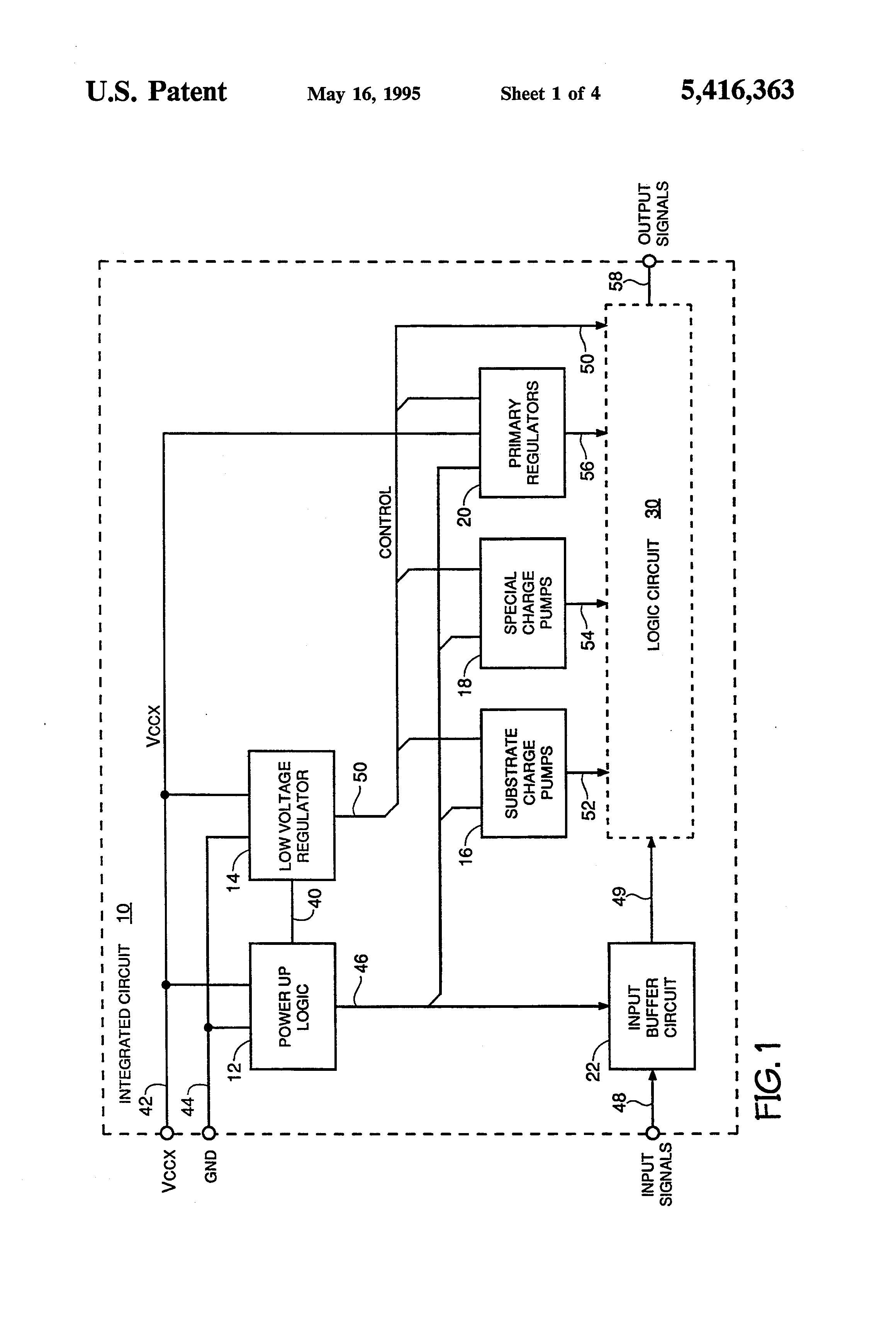 Patent Us5416363 Logic Circuit Initialization Google Patents Digital Clock Schematic Likewise Diagram Drawing