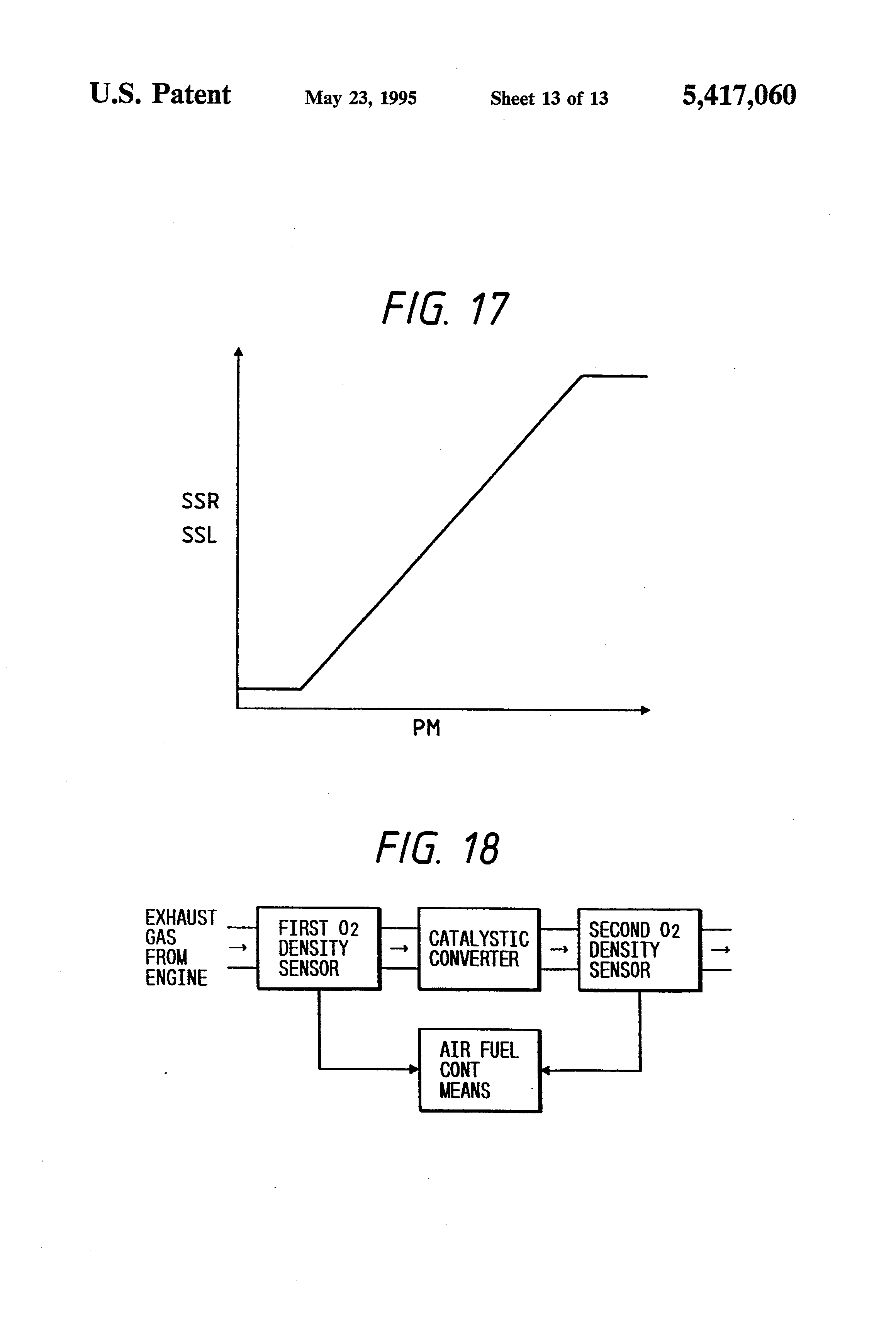 Us5417060 Air Fuel Ratio Control Apparatus For An Diagram Of The First Gas Engine Patent Drawing