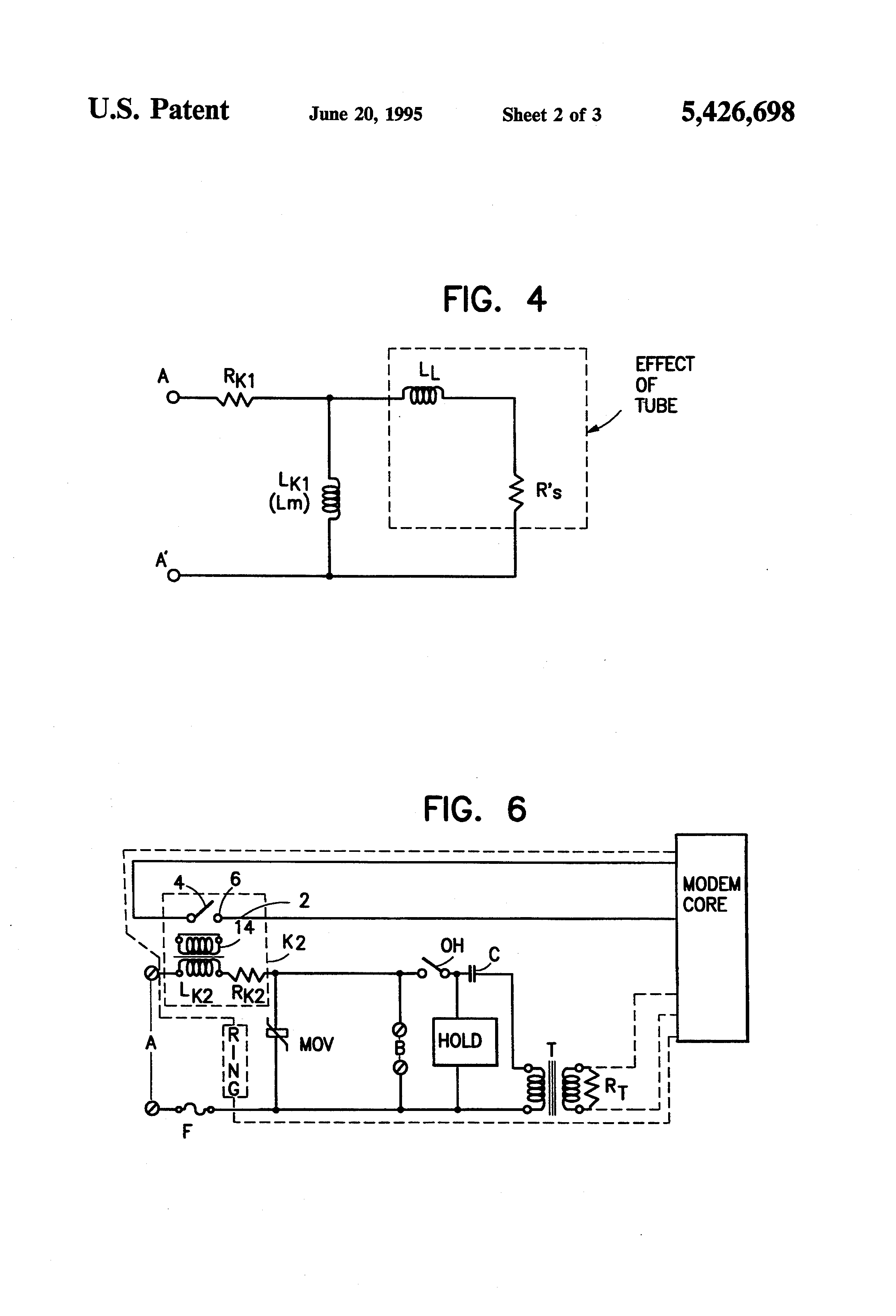 Patent Us5426698 Transformed Current Sensing Relay For Use In Reed Contact Protection Diagram 2 Drawing