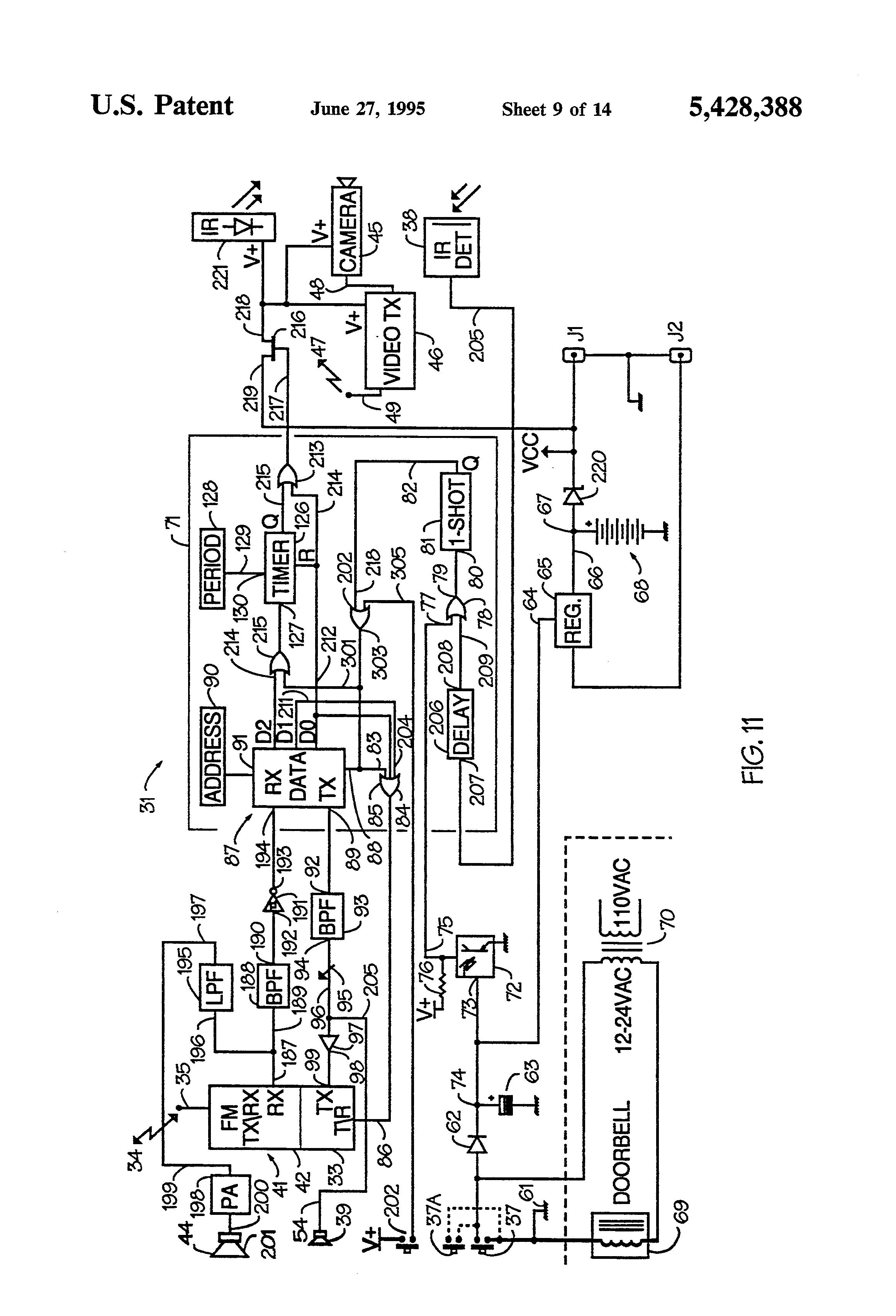 patent us5428388 - video doorbell system
