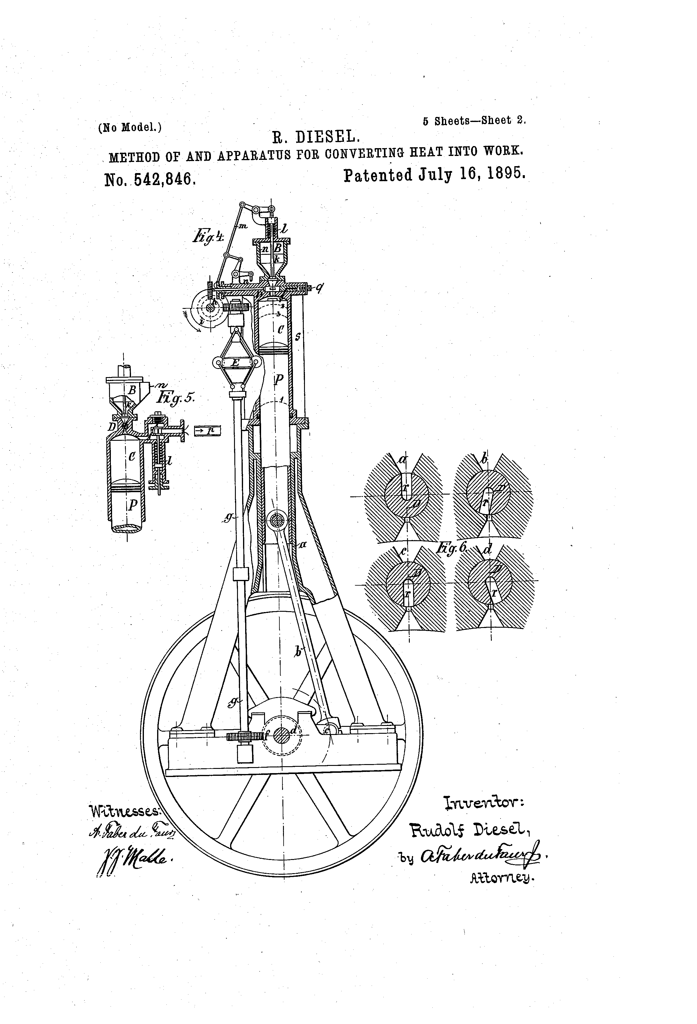 patent us542846 diesel patents