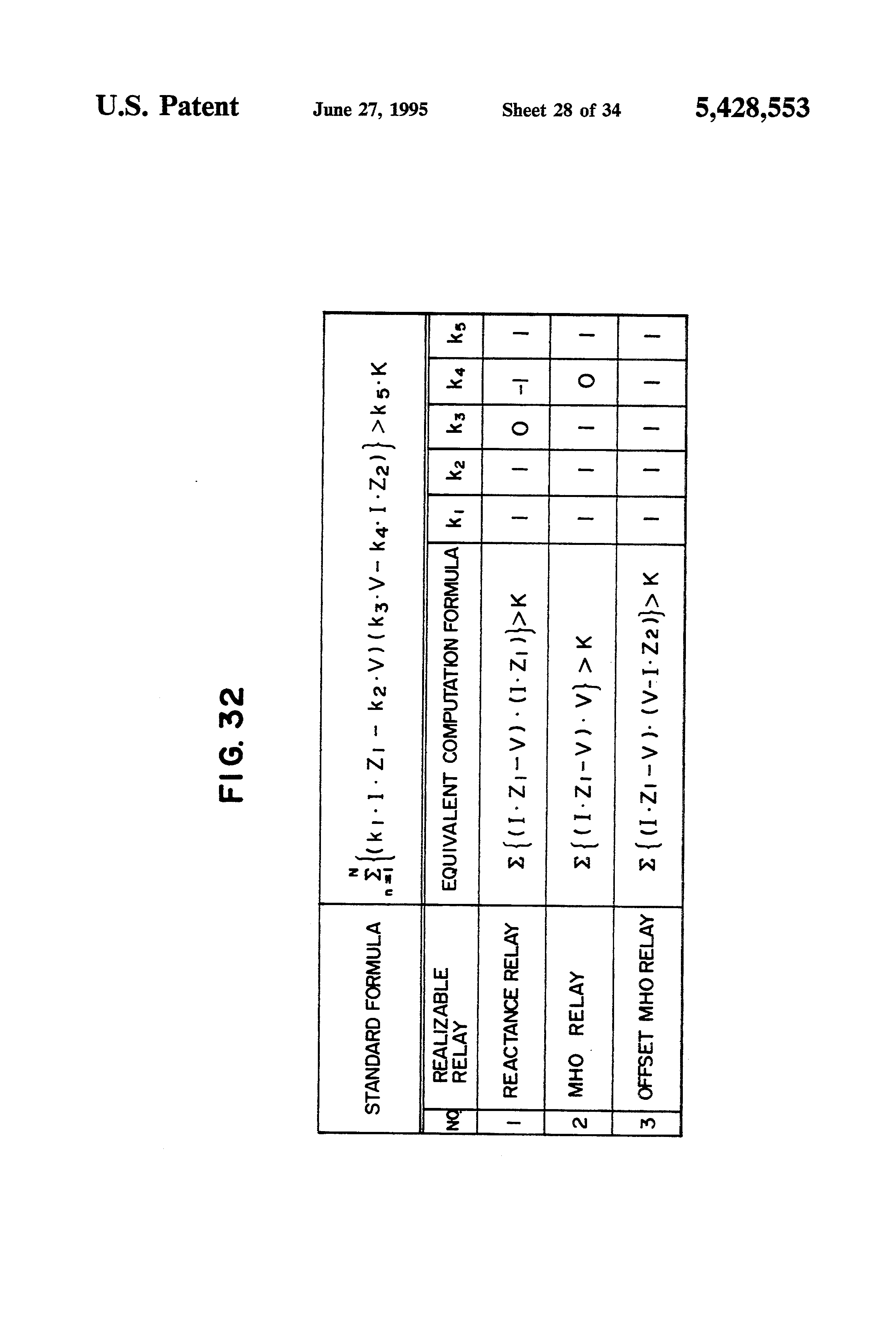 Patent Us5428553 Digital Control And Protection Equipment For Mho Relay Working Principle Drawing
