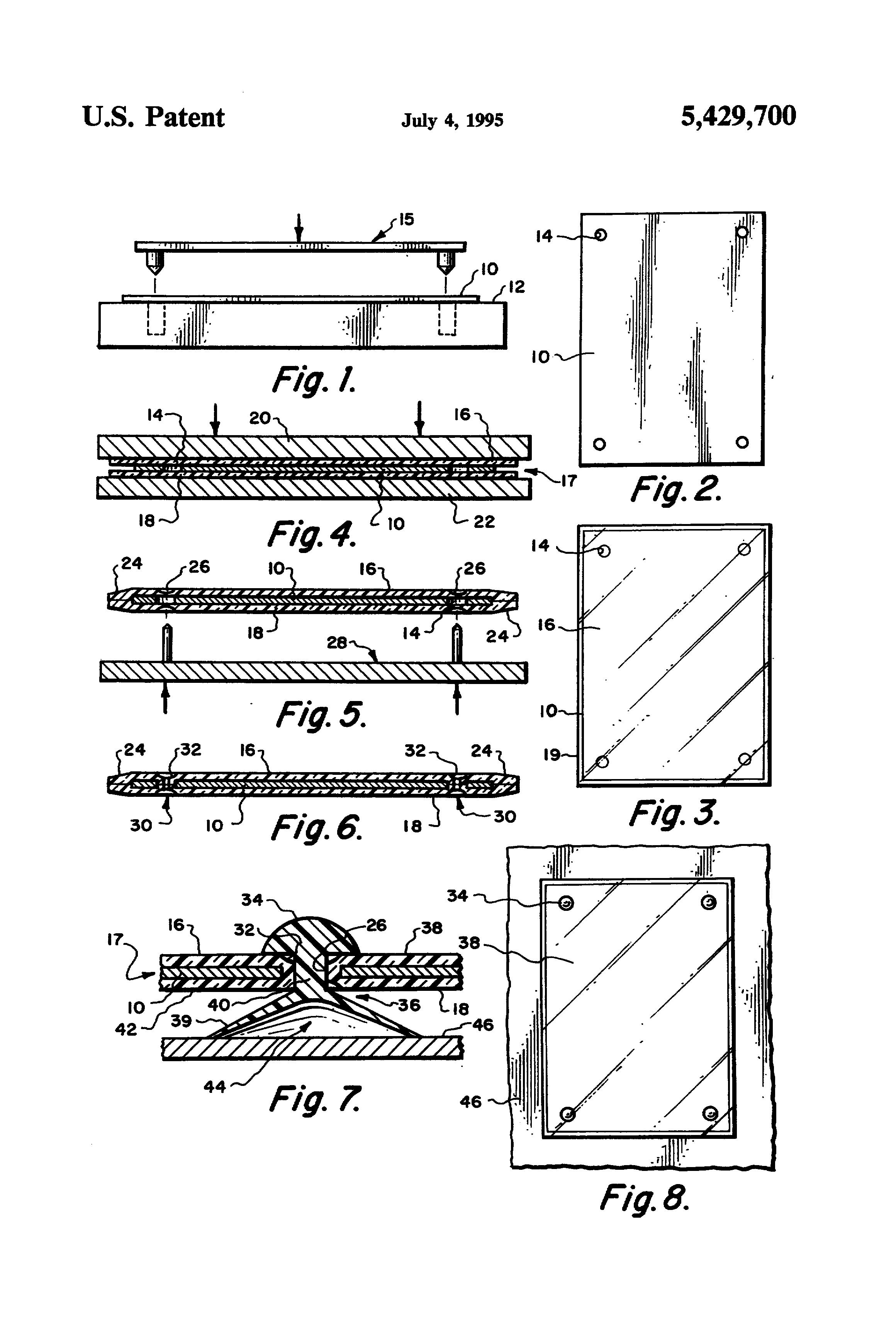 Patent US5429700 - Waterproof art - Google Patents