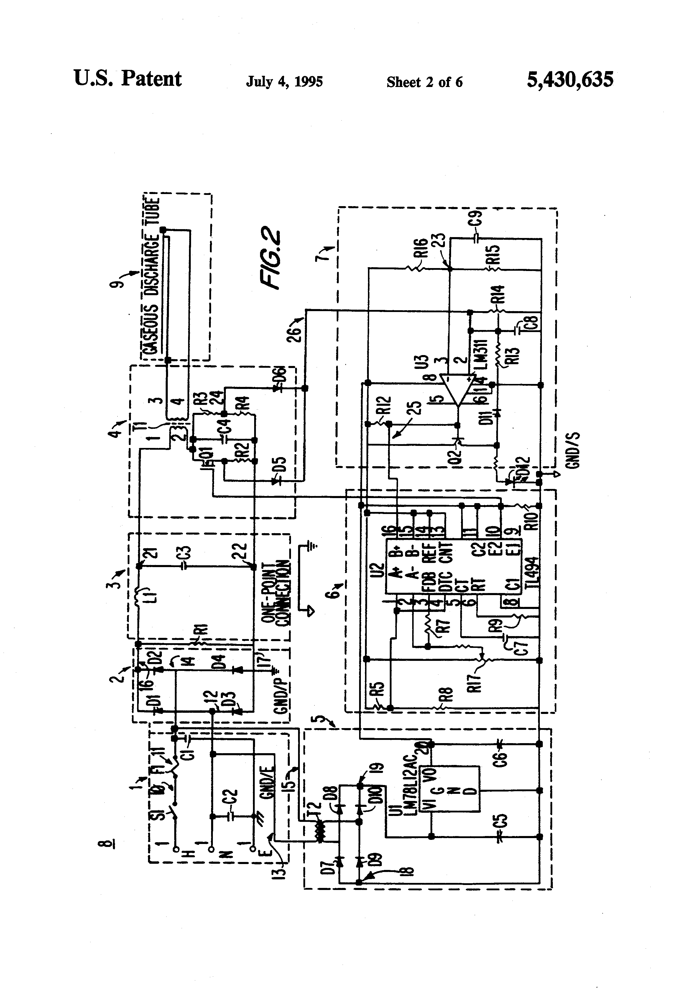 Patent Us5430635 High Power Factor Electronic