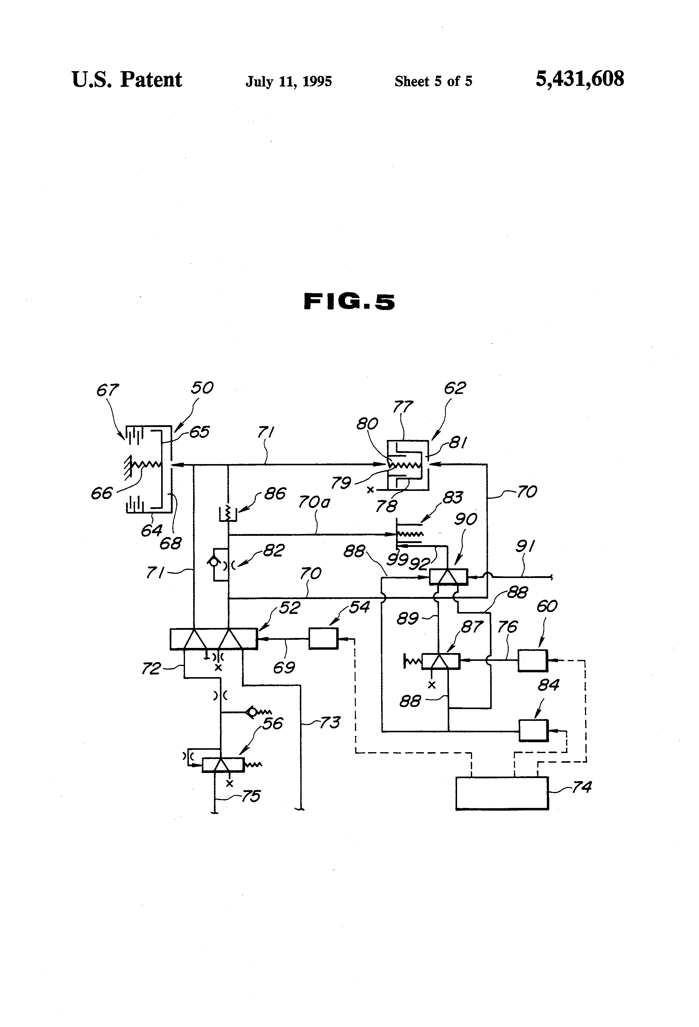 Patent Us5431608 Method And Device For Controlling Clutch Of 543 Cat Engine Diagram Drawing