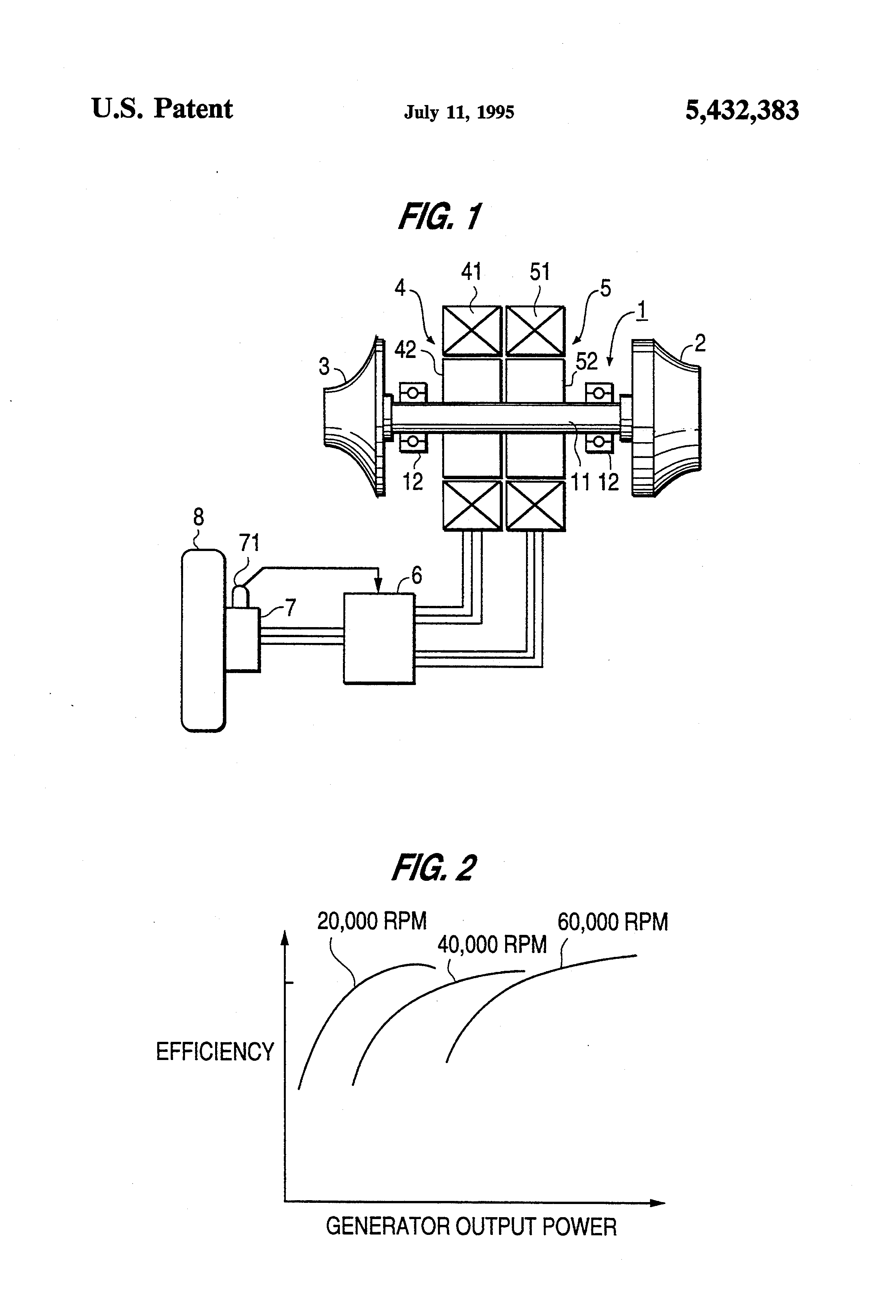 Patent US Electric generator system for gas turbine