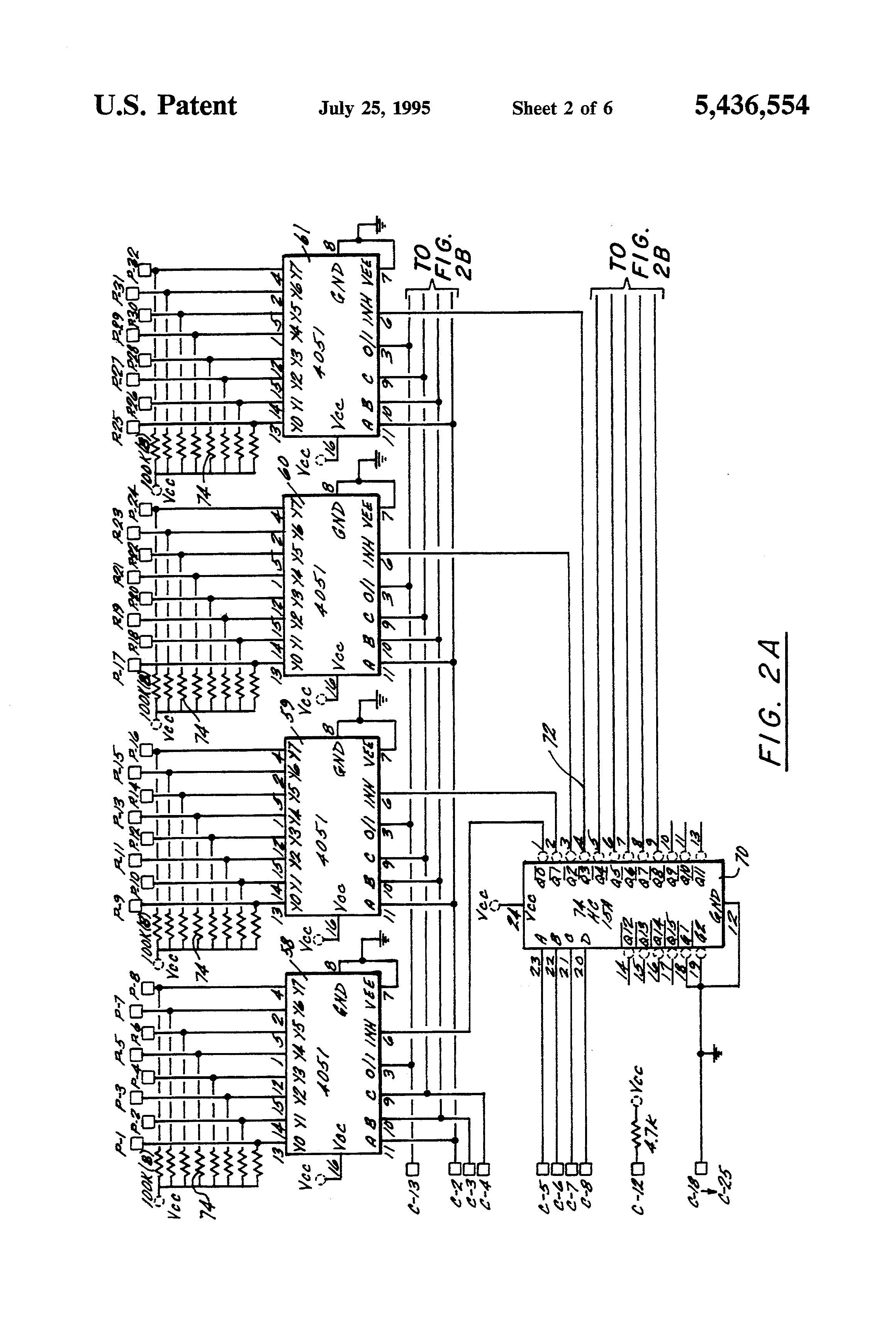 Patente Us5436554 Computer Controlled Cable Tester Google Patentes Logic Wire Harness Patent Drawing