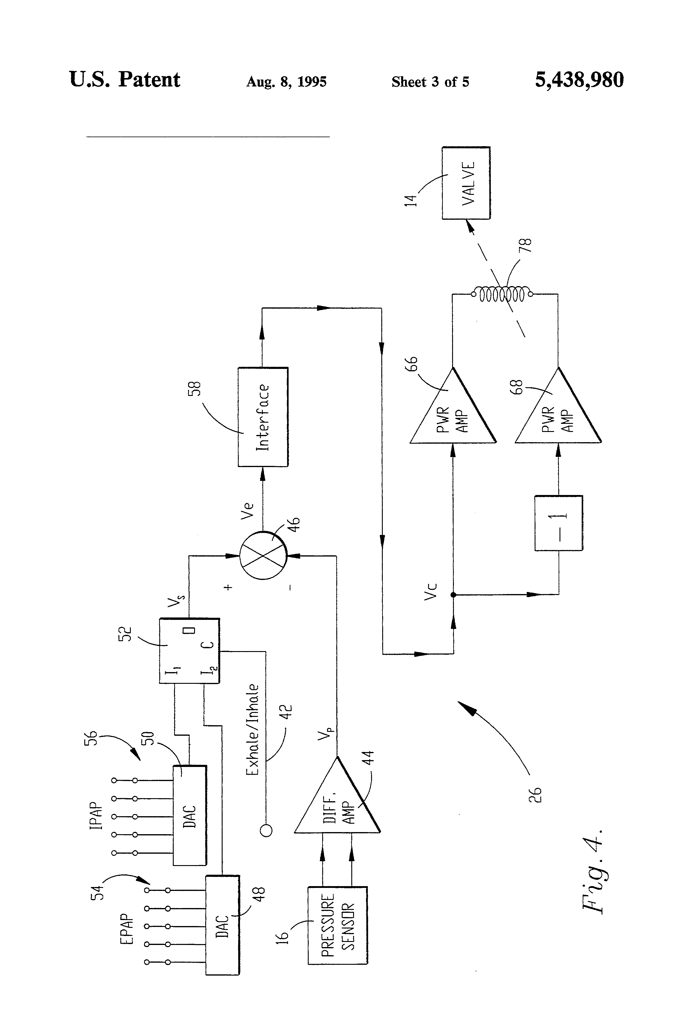 patent us5438980 - inhalation  exhalation respiratory phase detection circuit