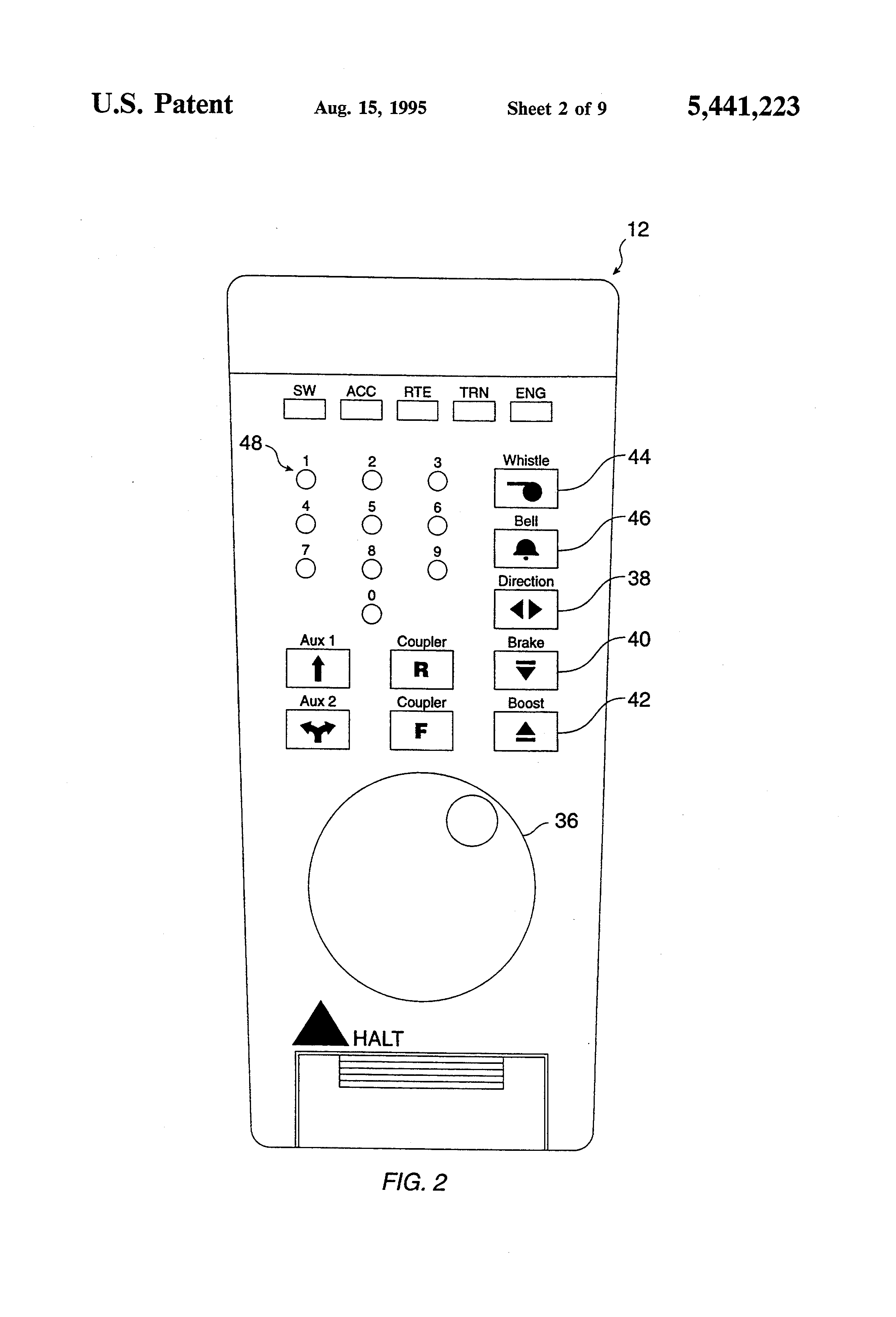 Patent Us5441223 Model Train Controller Using Electromagnetic Radio Frequency Modulator Circuit Diagram Motorcontrol Control Drawing