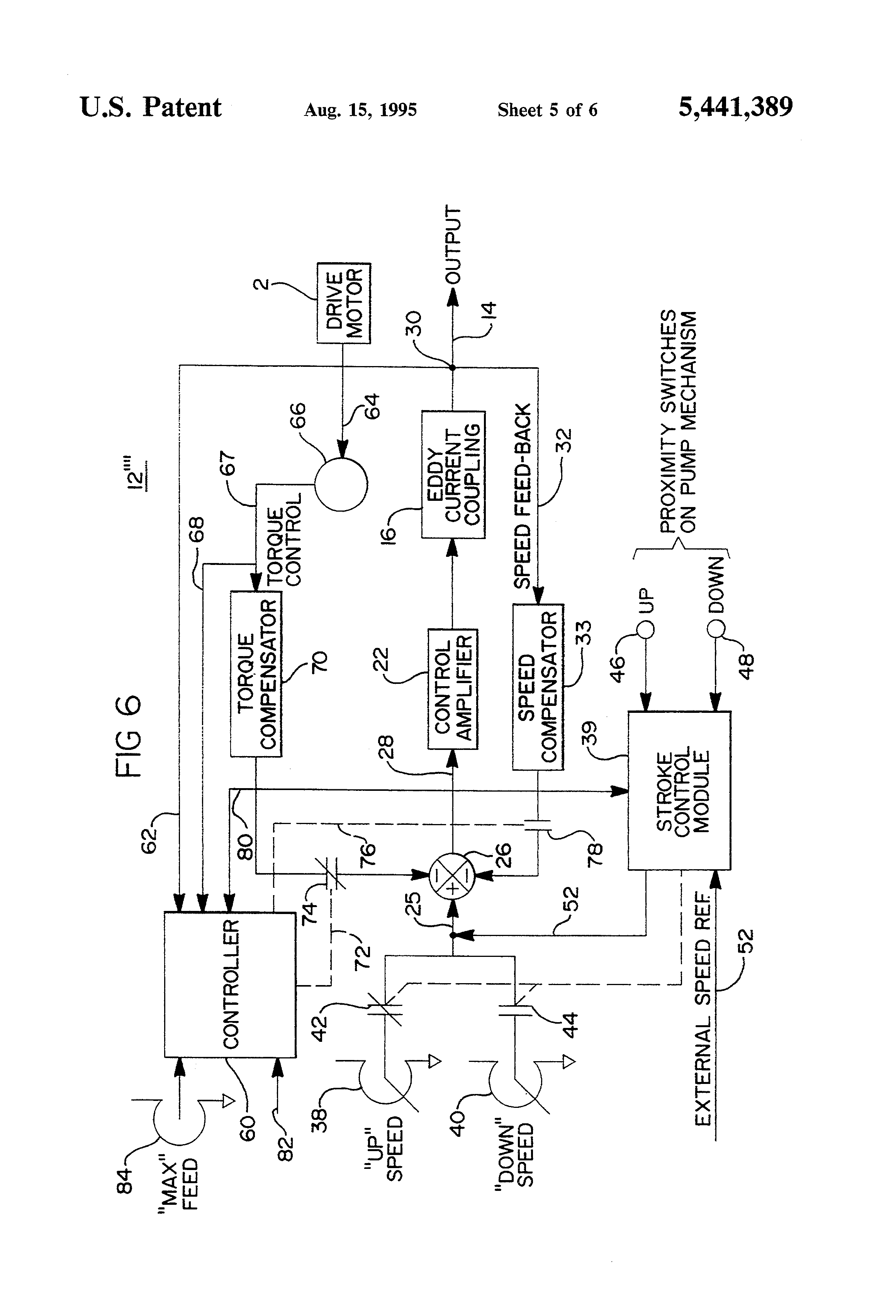 Patent Us5441389 Eddy Current Drive And Motor Control System For Wireless Remote Doorbell Circuit Controlcircuit Drawing