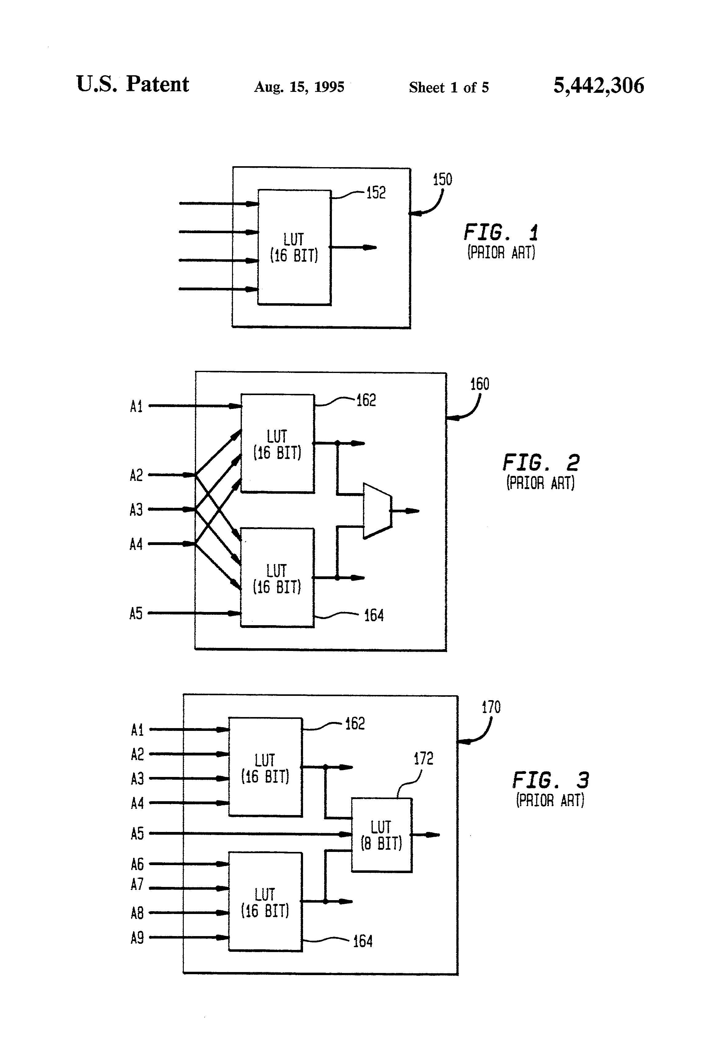 Patent Us5442306 Field Programmable Gate Array Using Look Up Block Diagram Or Logic Of 4x1 Multiplexer Mux Drawing