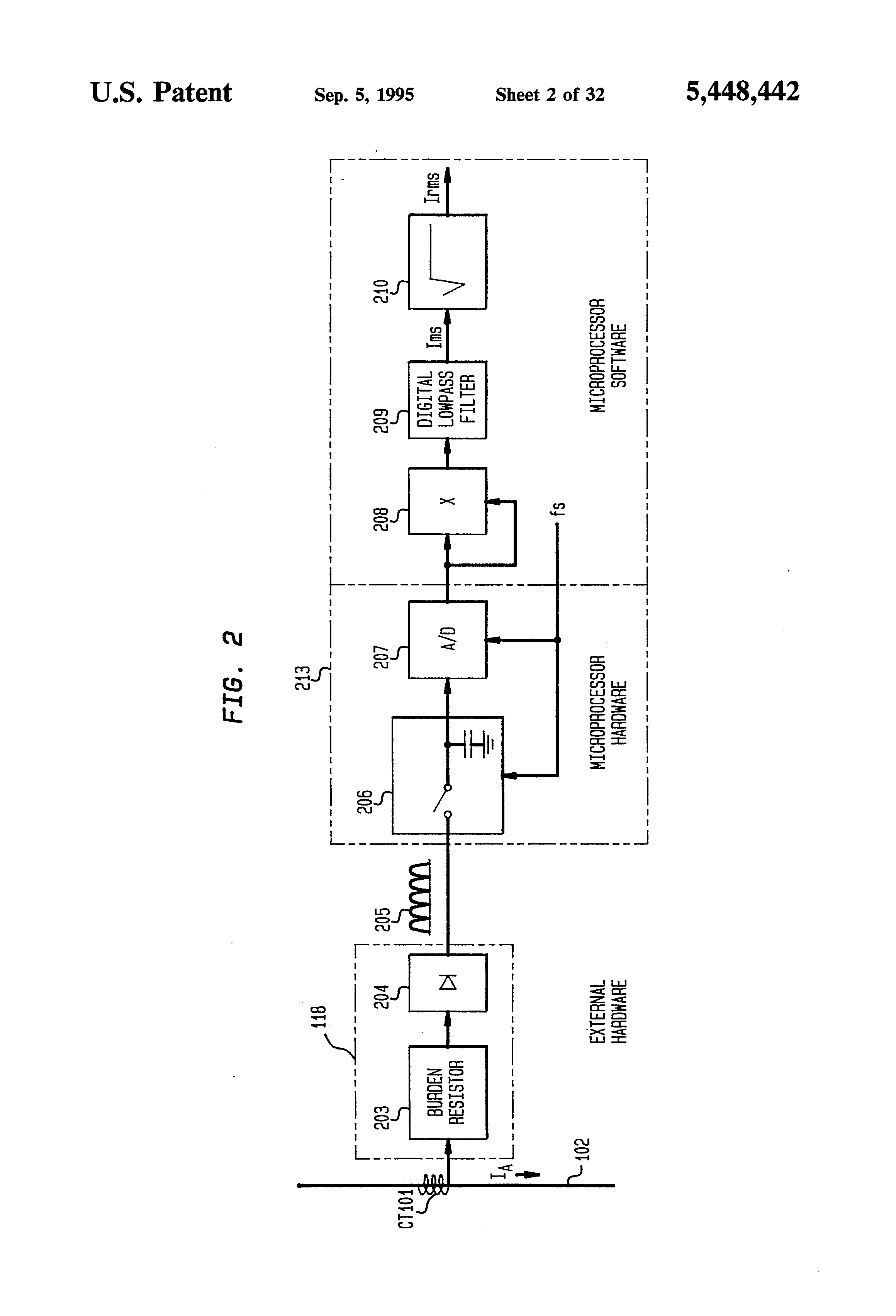 Patent Us5448442 Motor Controller With Instantaneous Trip To Smooth Out The Switch Bouncing Waveform An Rc Lowpass Filter Can Be Drawing