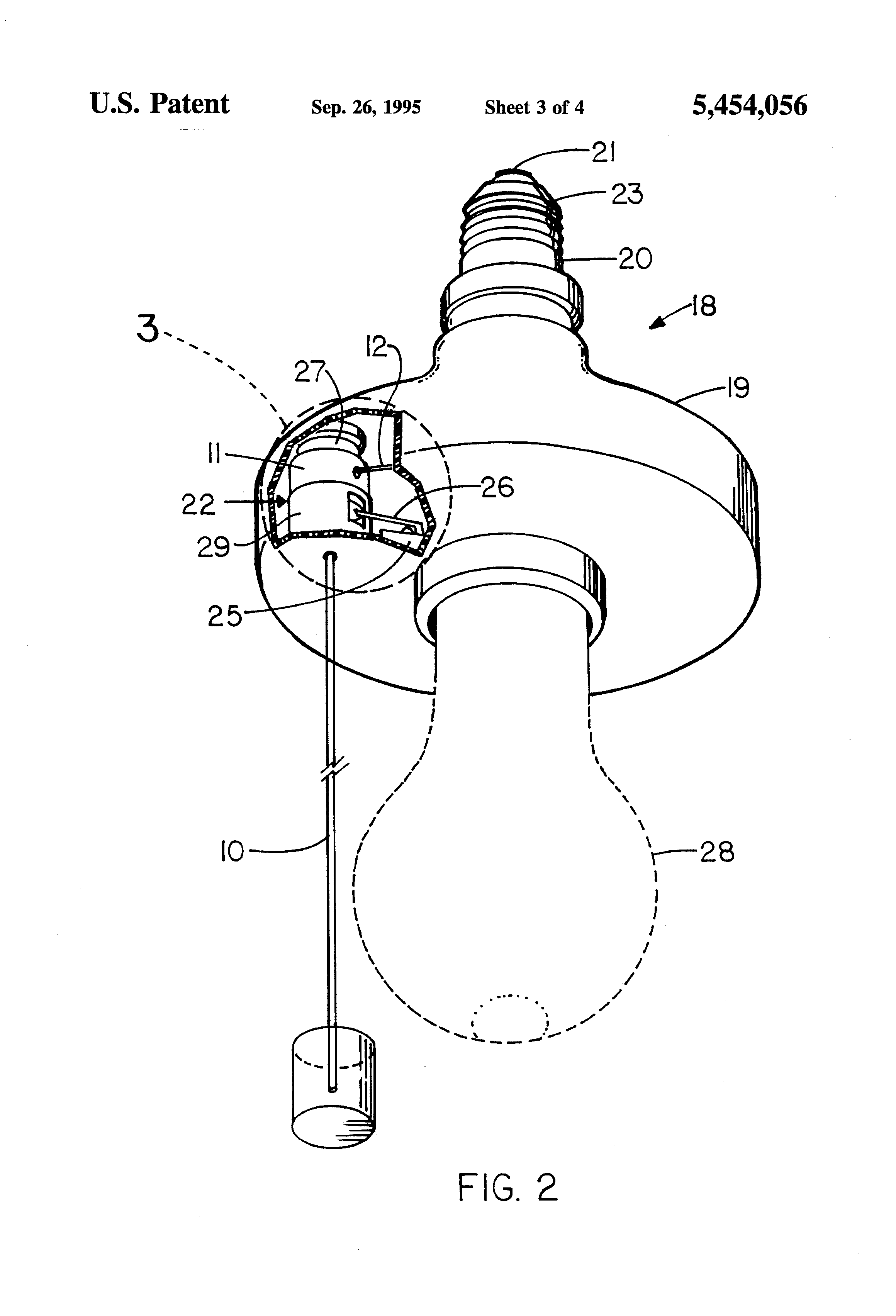 Patent Us5454056 Luminous Pull Cord For Electrical