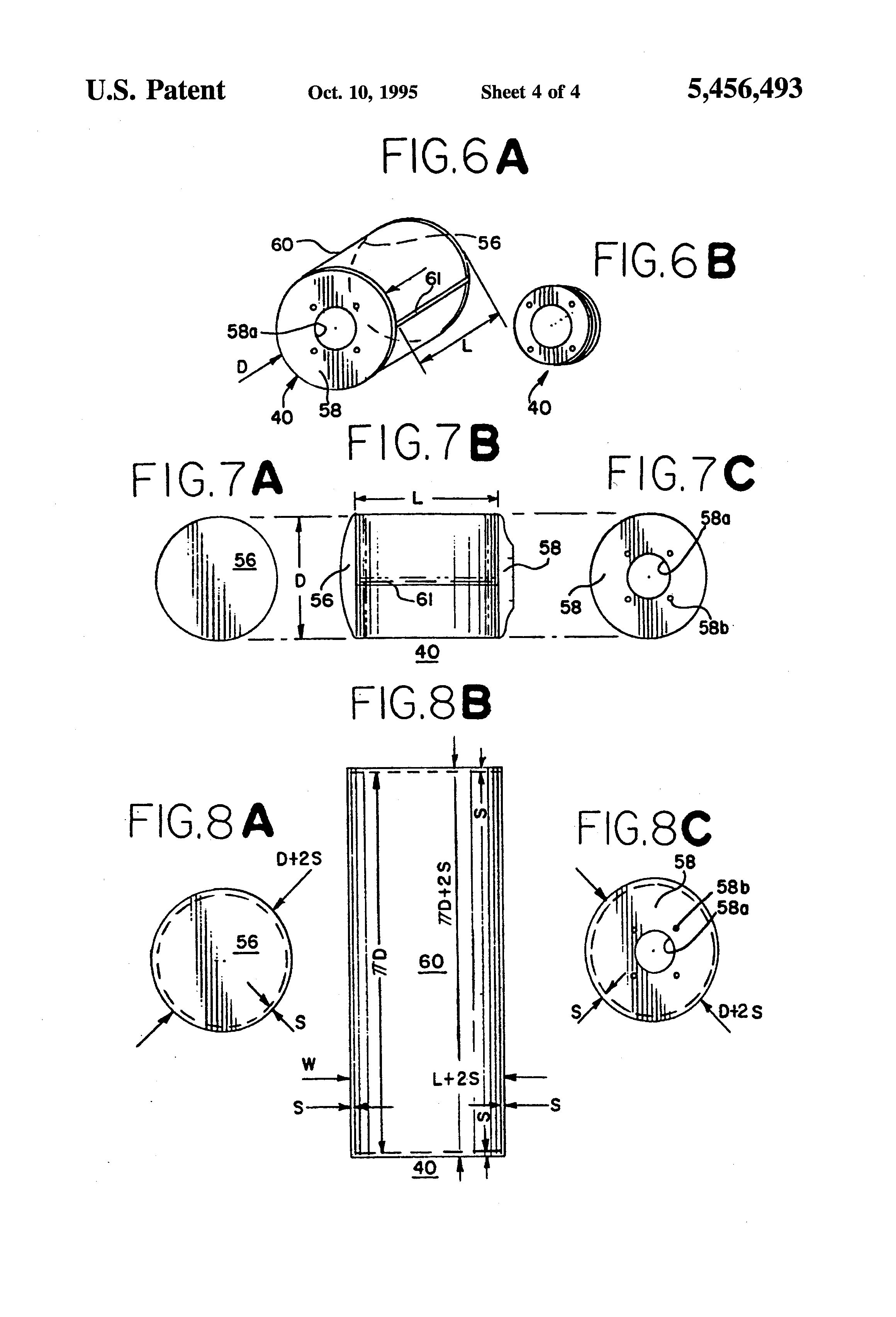 patent us5456493 cylindrical air bag patents Physical Injury Diagram patent drawing