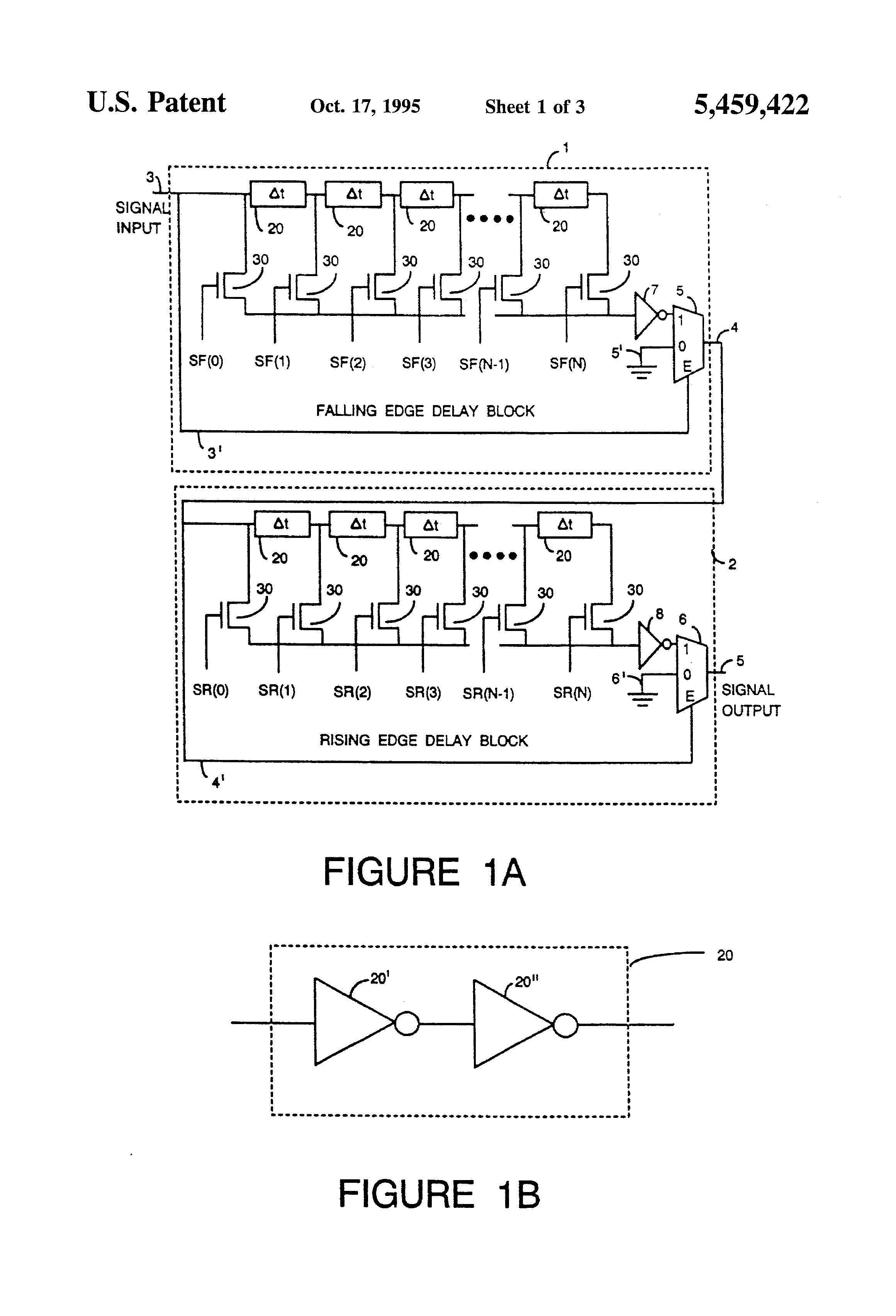 us5459422 edge selective delay circuit