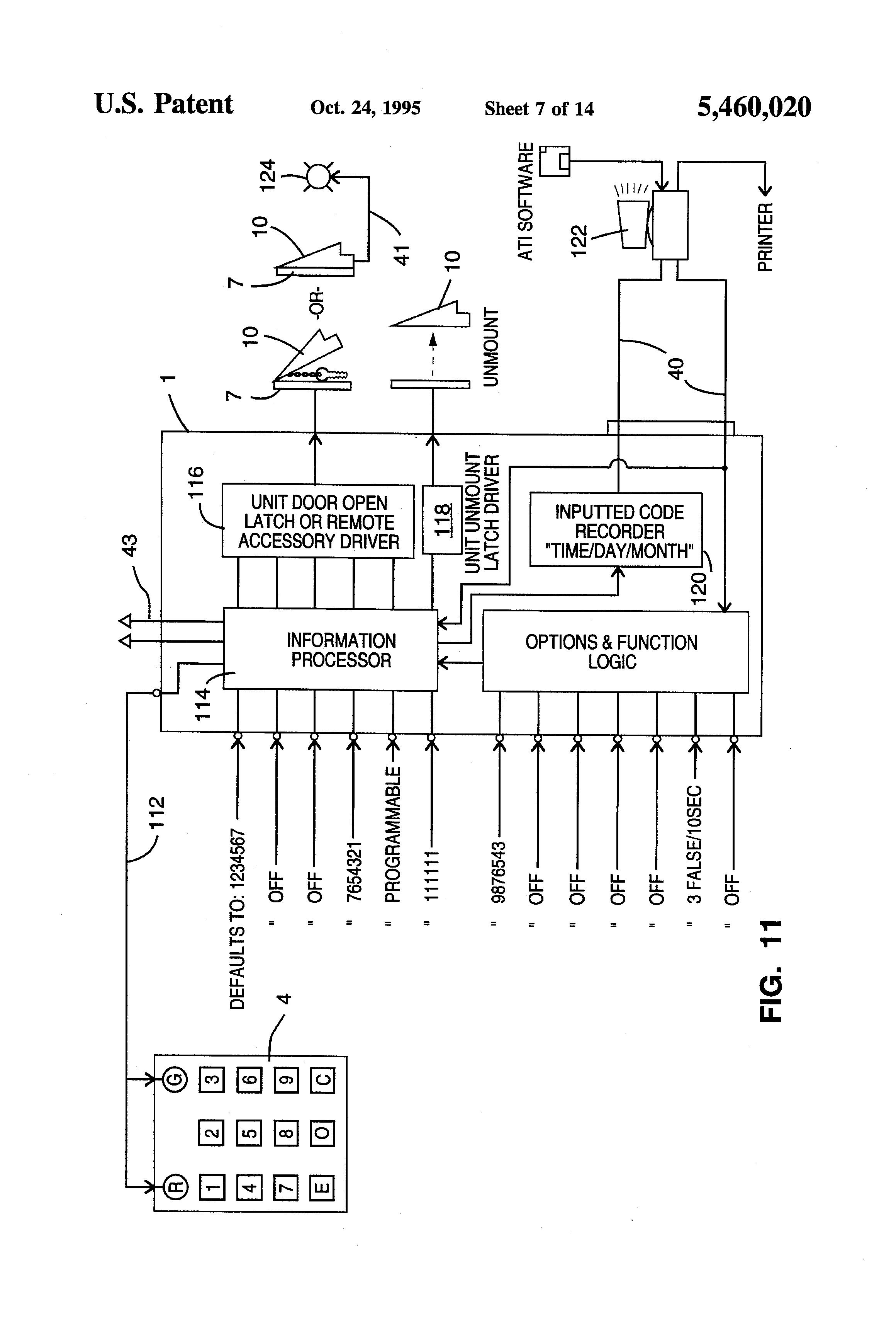 patent us5460020 key safe patents