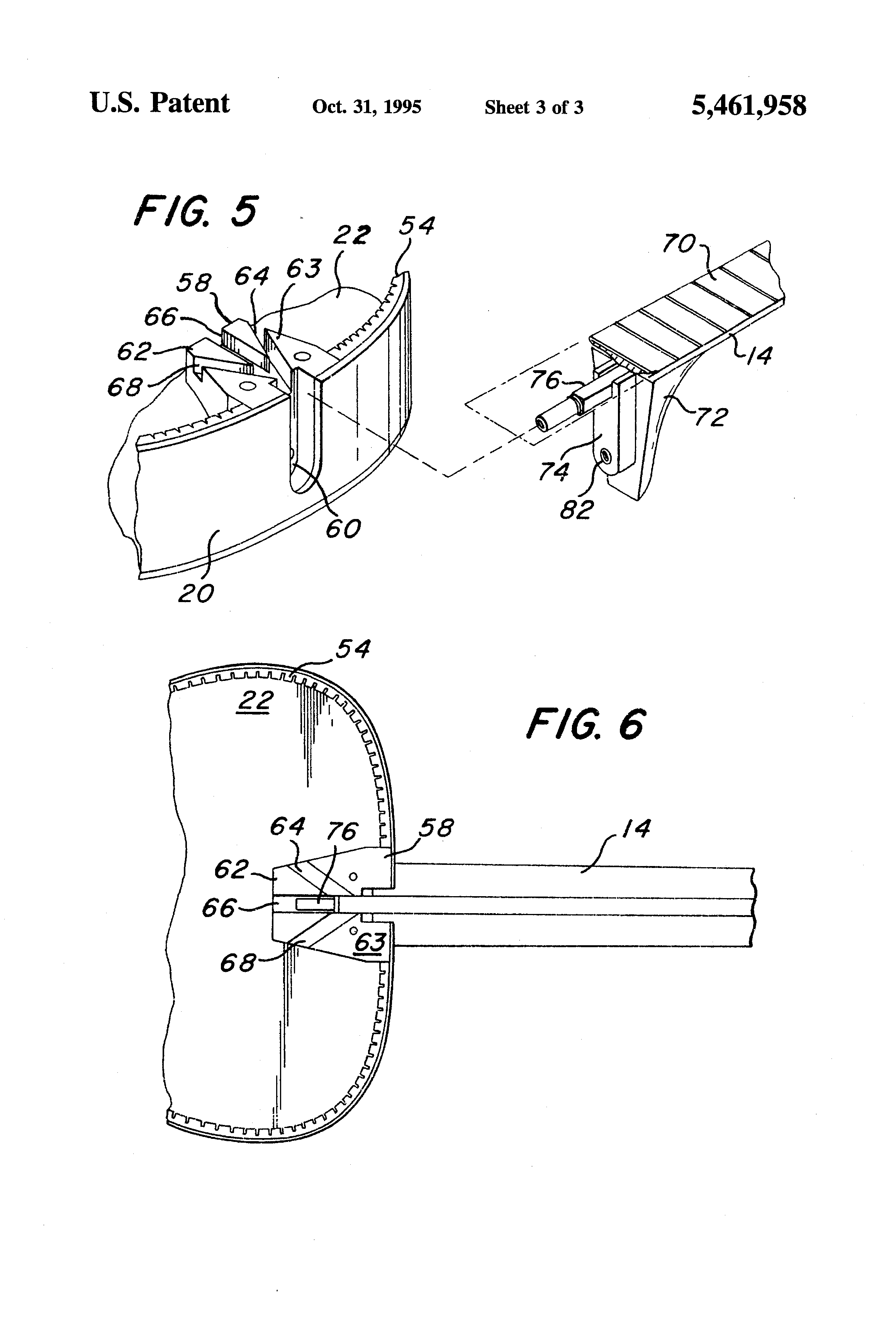 patent us5461958 - acoustic guitar assembly