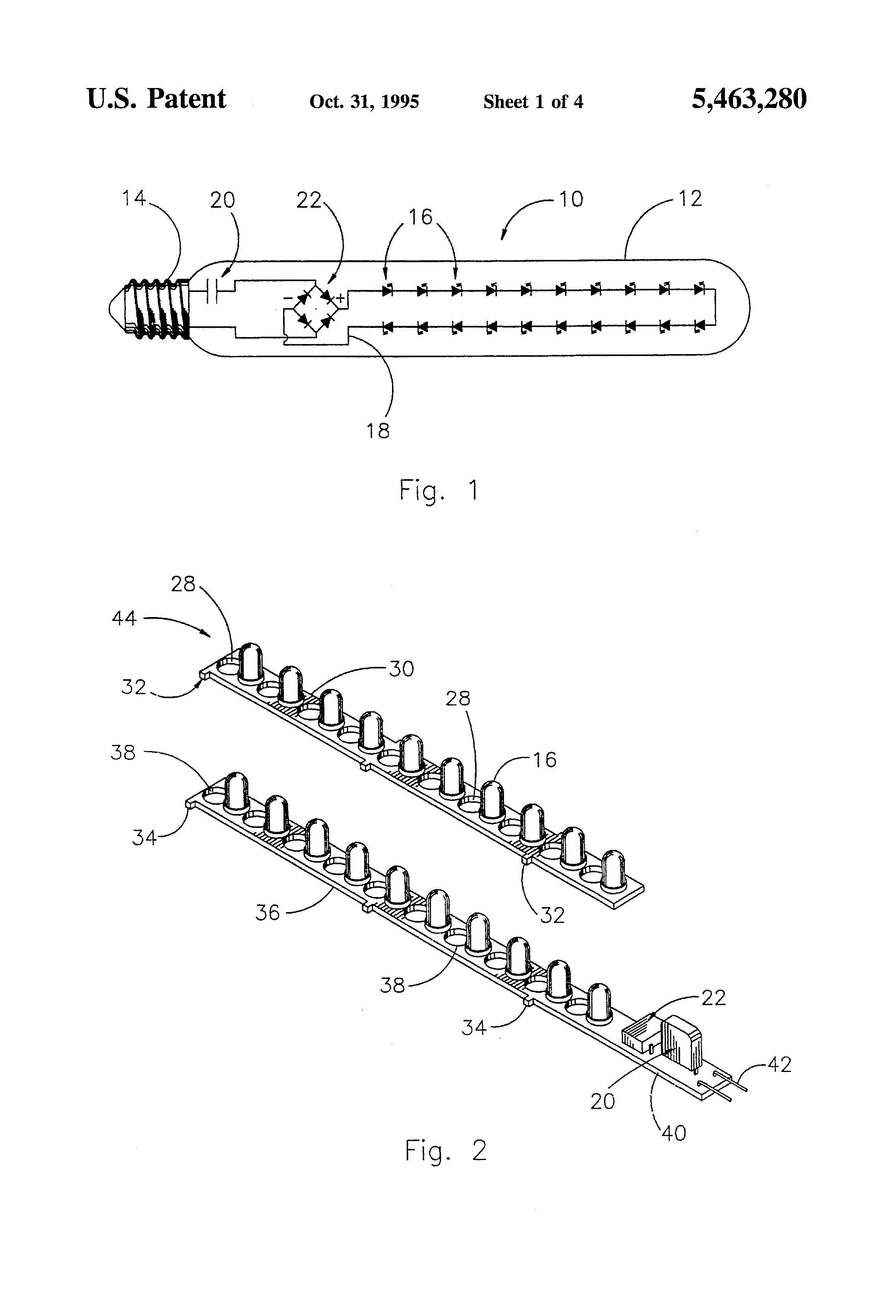 patent us5463280 - light emitting diode retrofit lamp