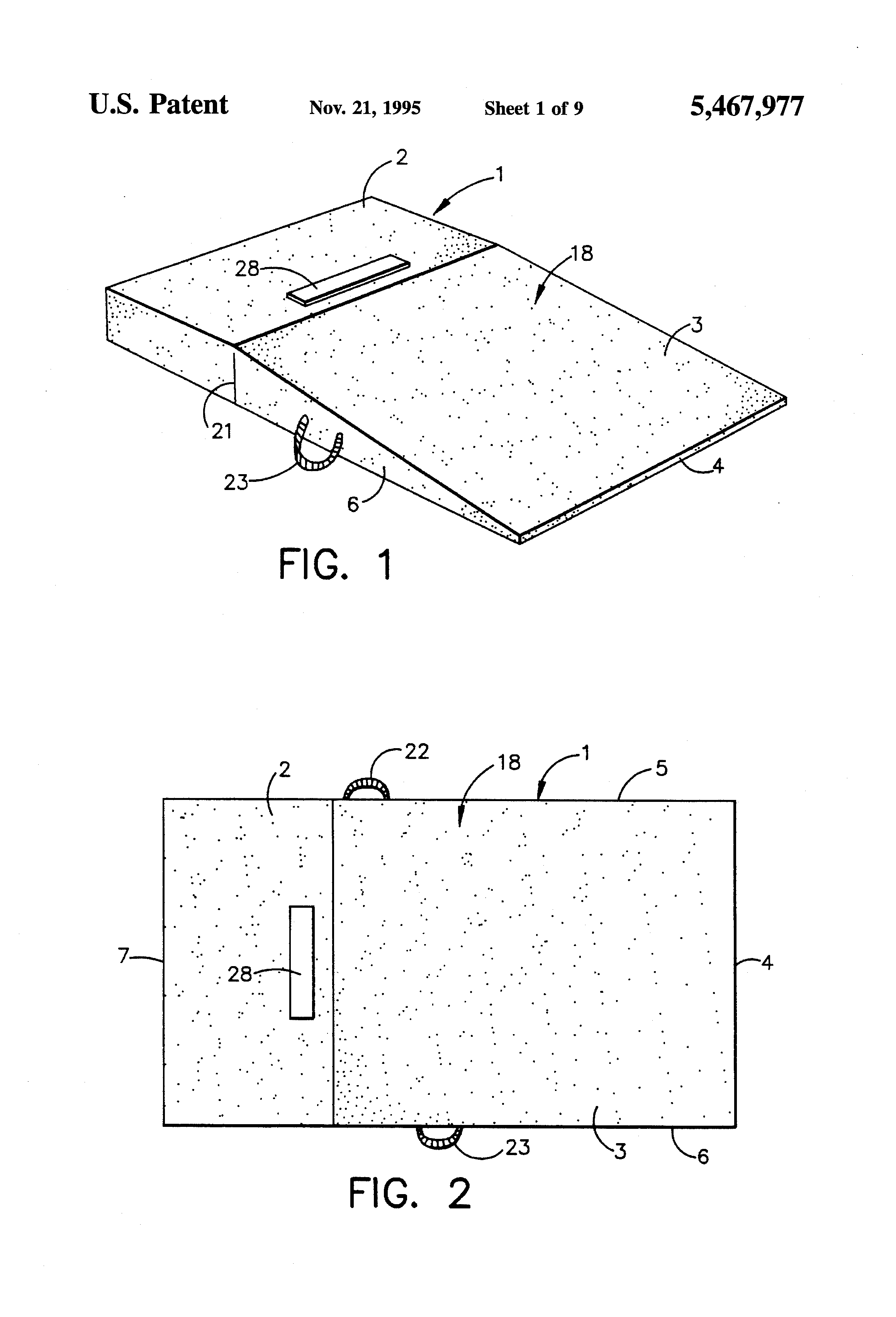 Patent Us5467977 Portable Pitching Mound Google Patents