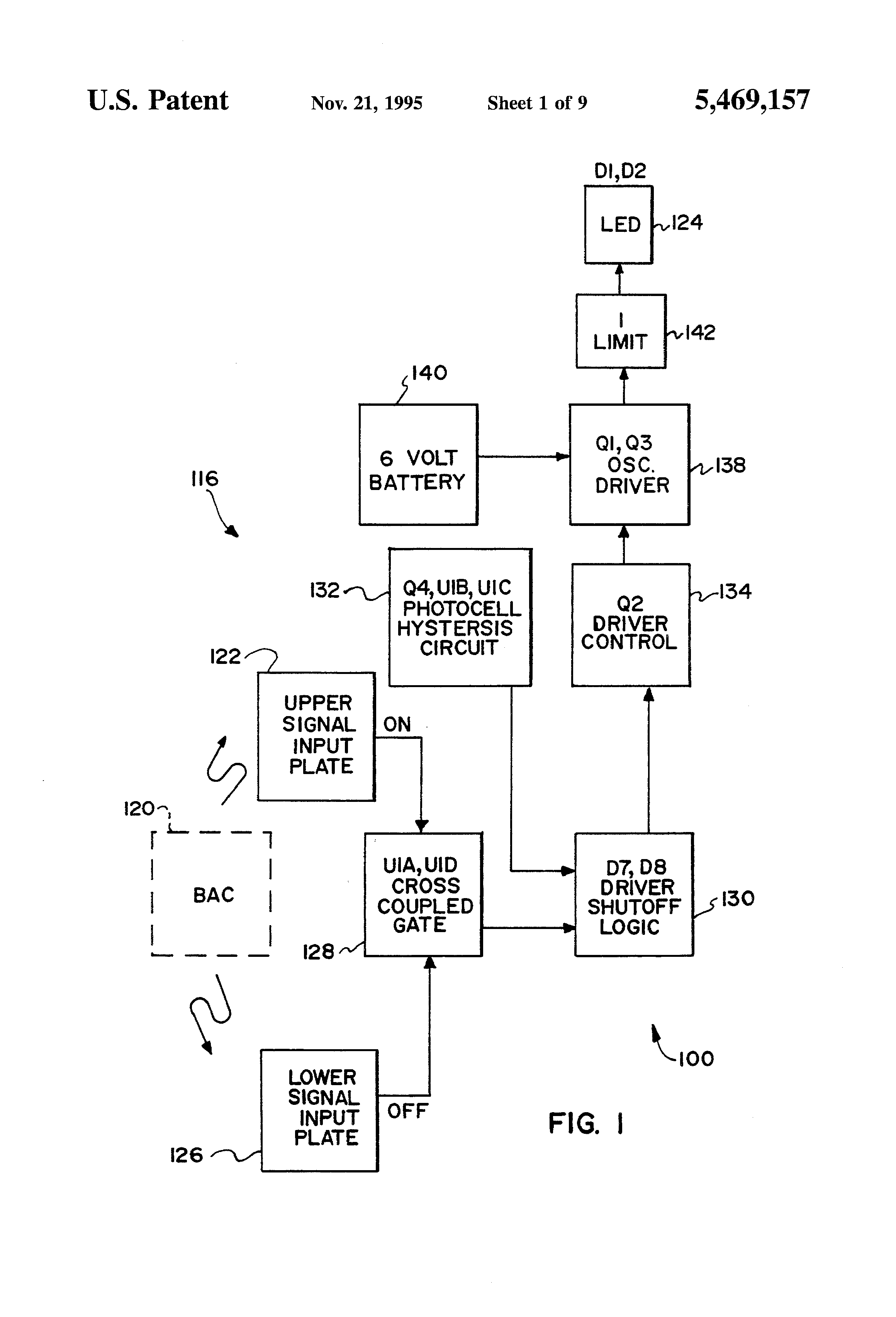Patente Us5469157 Barricade Light With Emitting Diode Simple Led Flasher Circuit Using A Transistor Patent Drawing