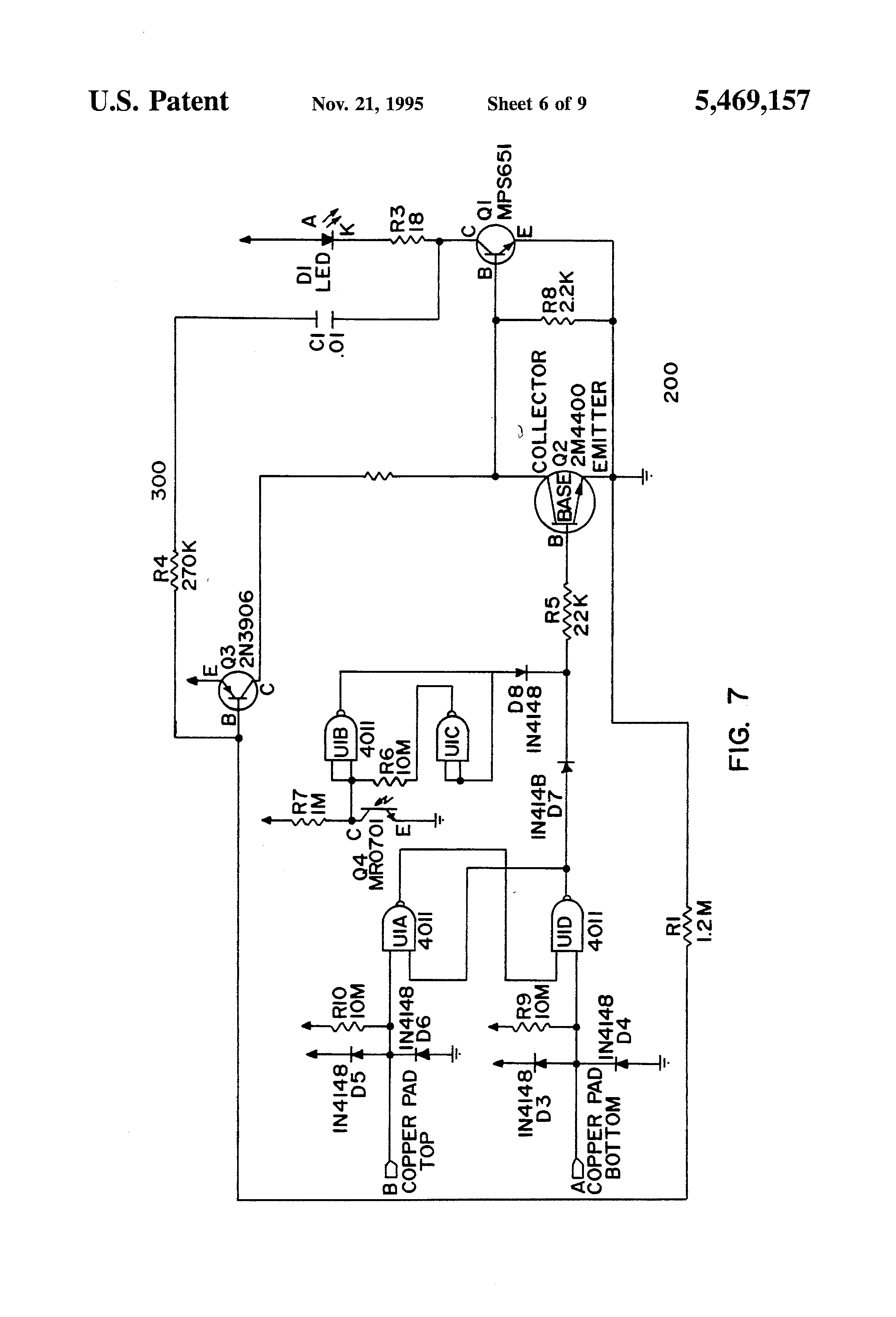 Patente Us5469157 Barricade Light With Emitting Diode Photo Flash 220v Flasher Circuit Electronics Projects Circuits Patent Drawing