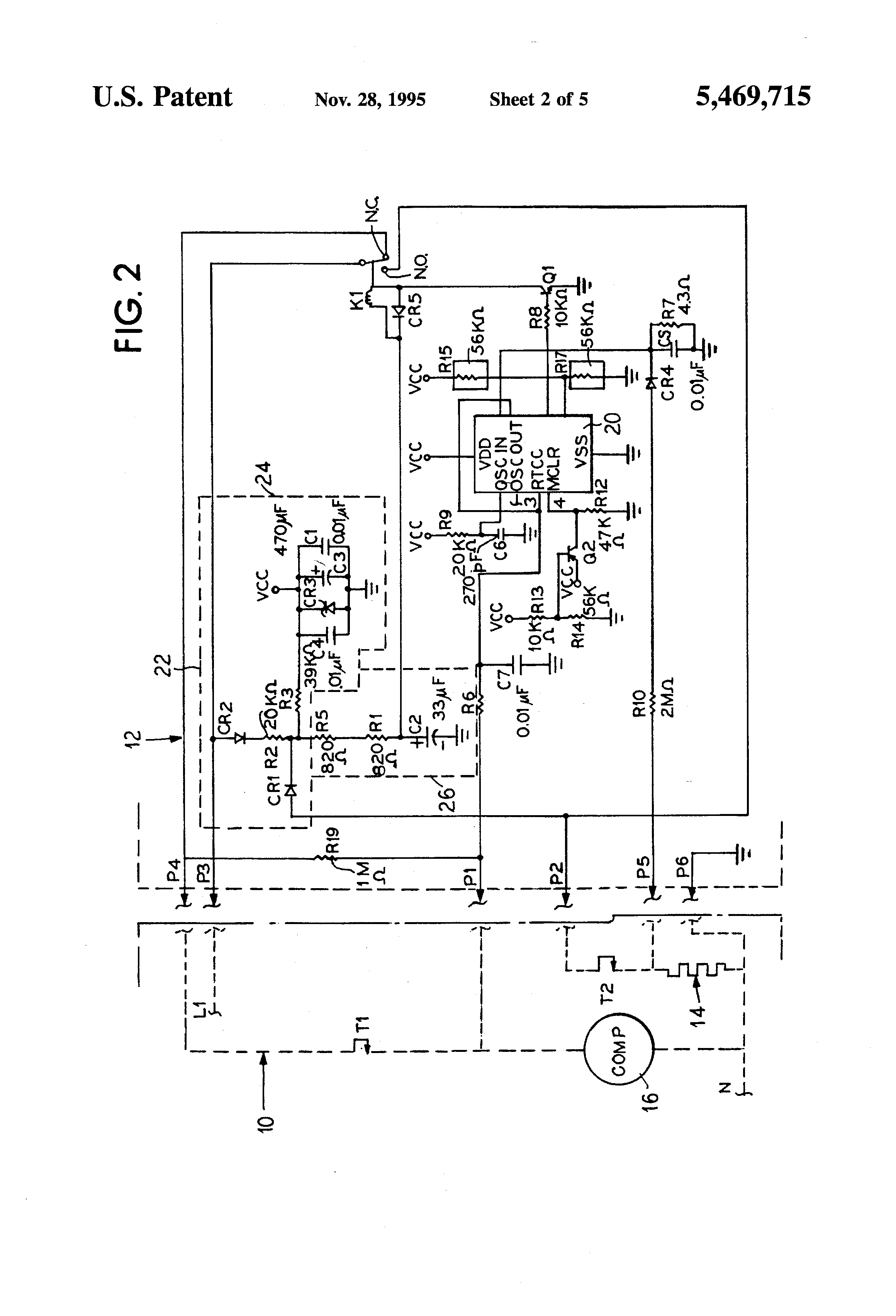 patent us5469715 - defrost cycle controller