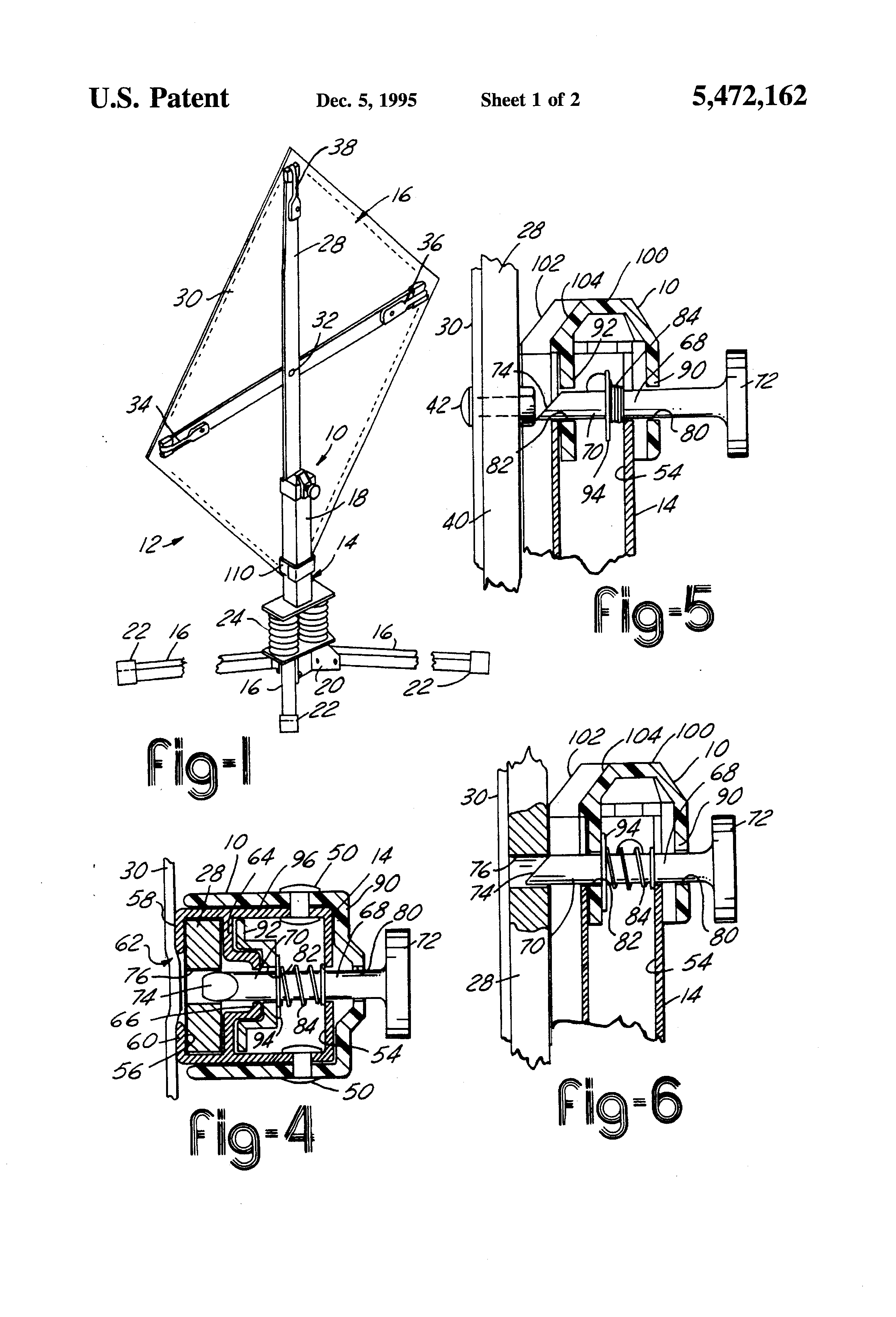 Patent US5472162 - Cap lock for sign stand - Google Patents