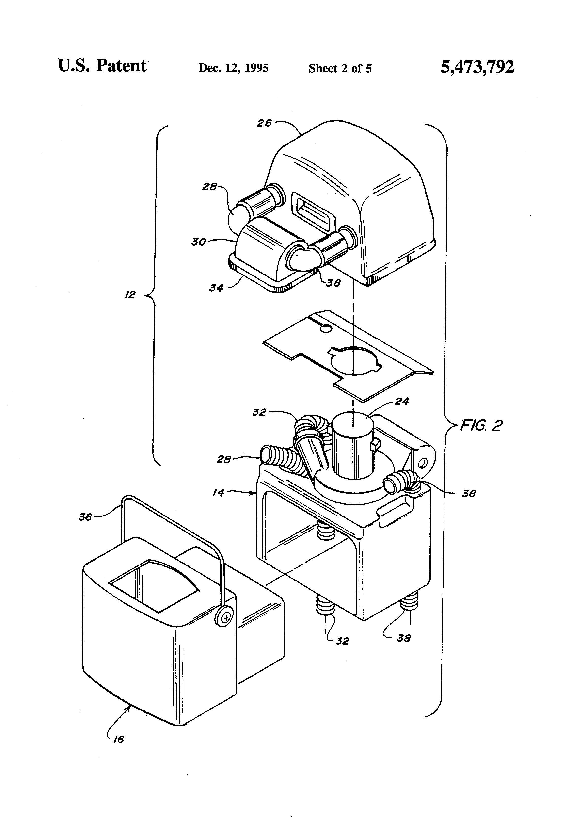 Patent Us5473792 Steam Cleaning Machine Google Patents