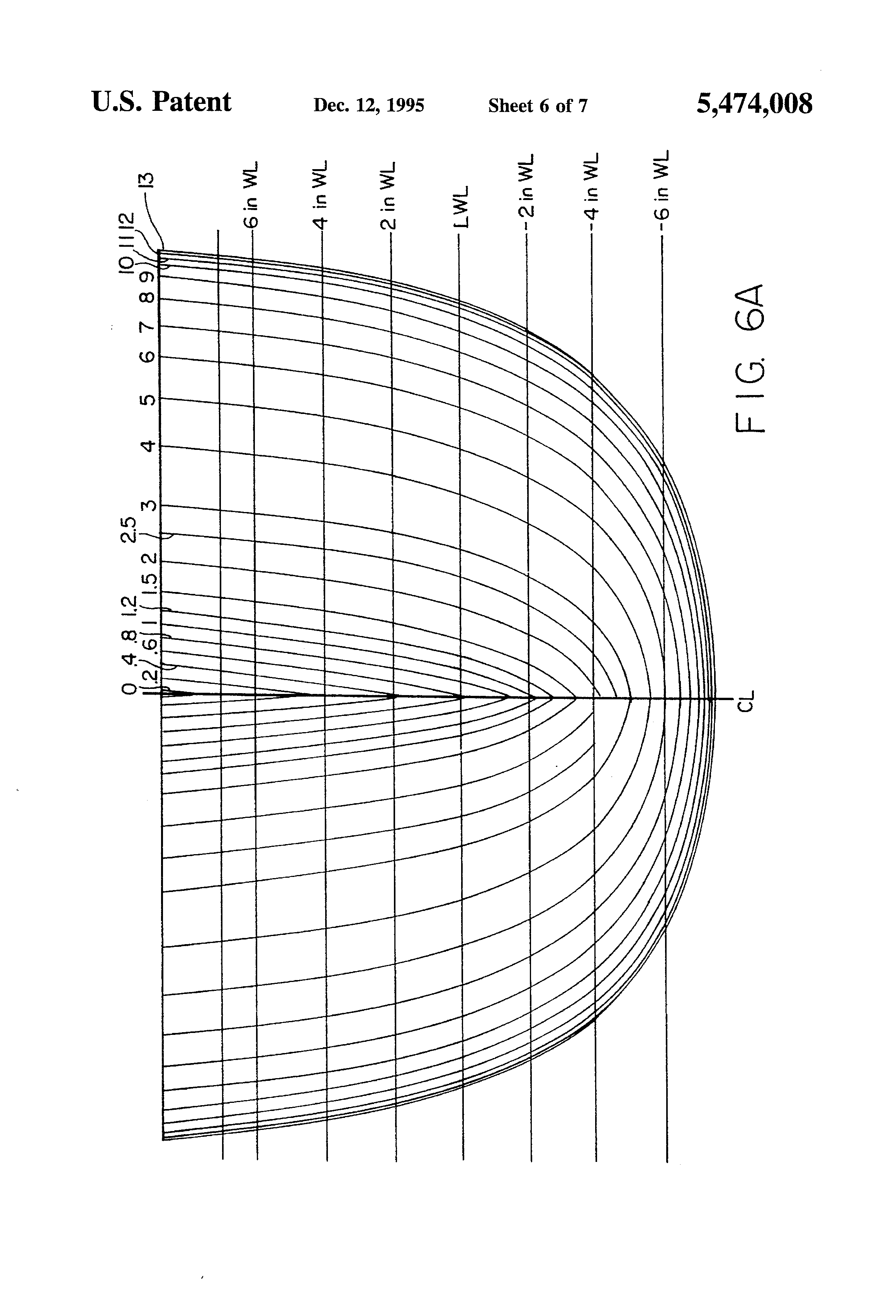 patent us5474008 - eight man rowing shell