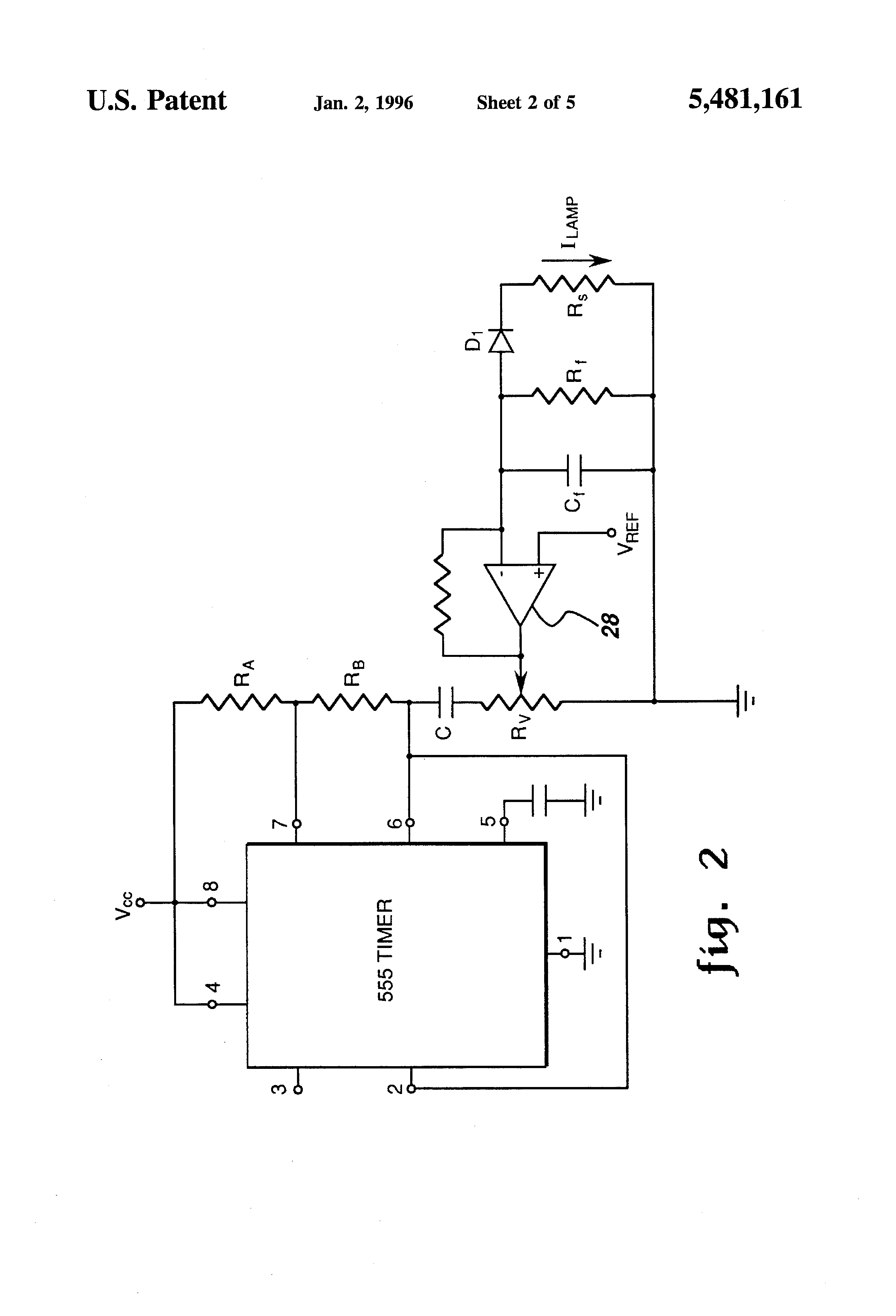 Patent Us5481161 Variable Frequency Generator For Resonant Power Door Timer Circuit With Alarm Adjustable 555 Ic Drawing