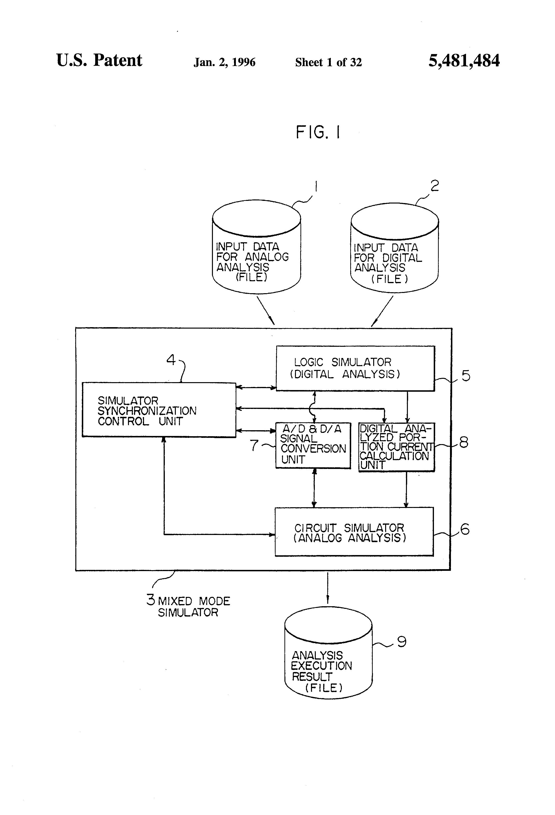Patent Us5481484 Mixed Mode Simulation Method And Simulator Circuit Drawing